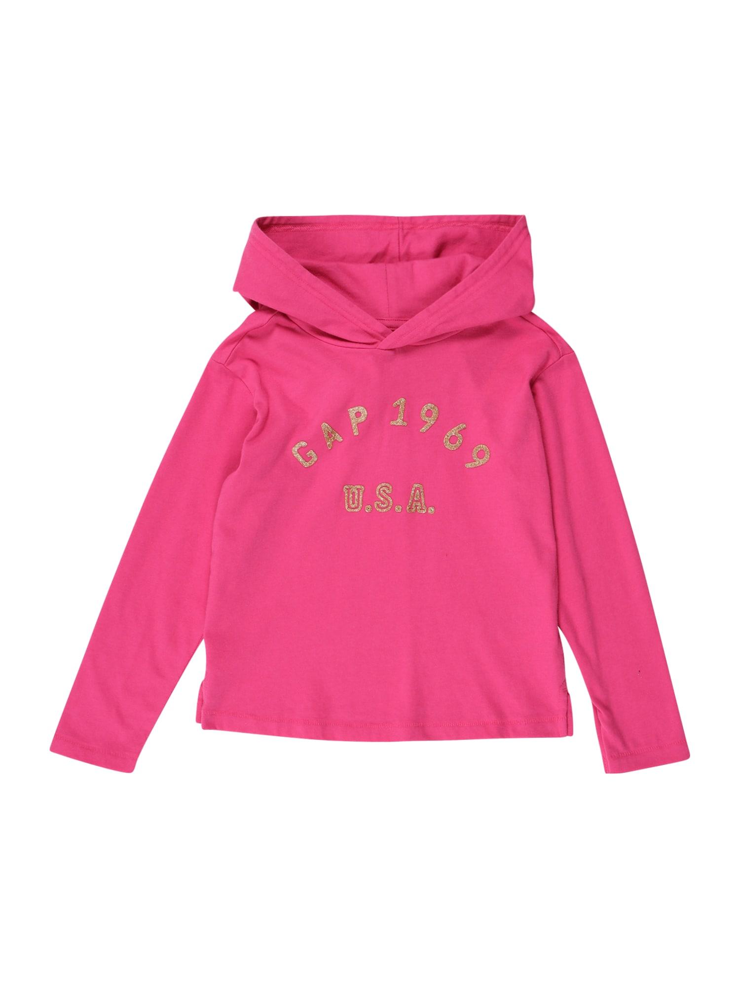 GAP Megztinis be užsegimo rožinė / gelsvai pilka spalva