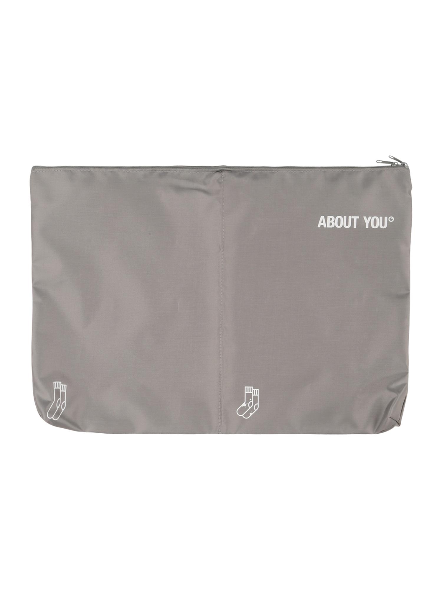 ABOUT YOU Apsauginis drabužių maišas 'Icons' pilka