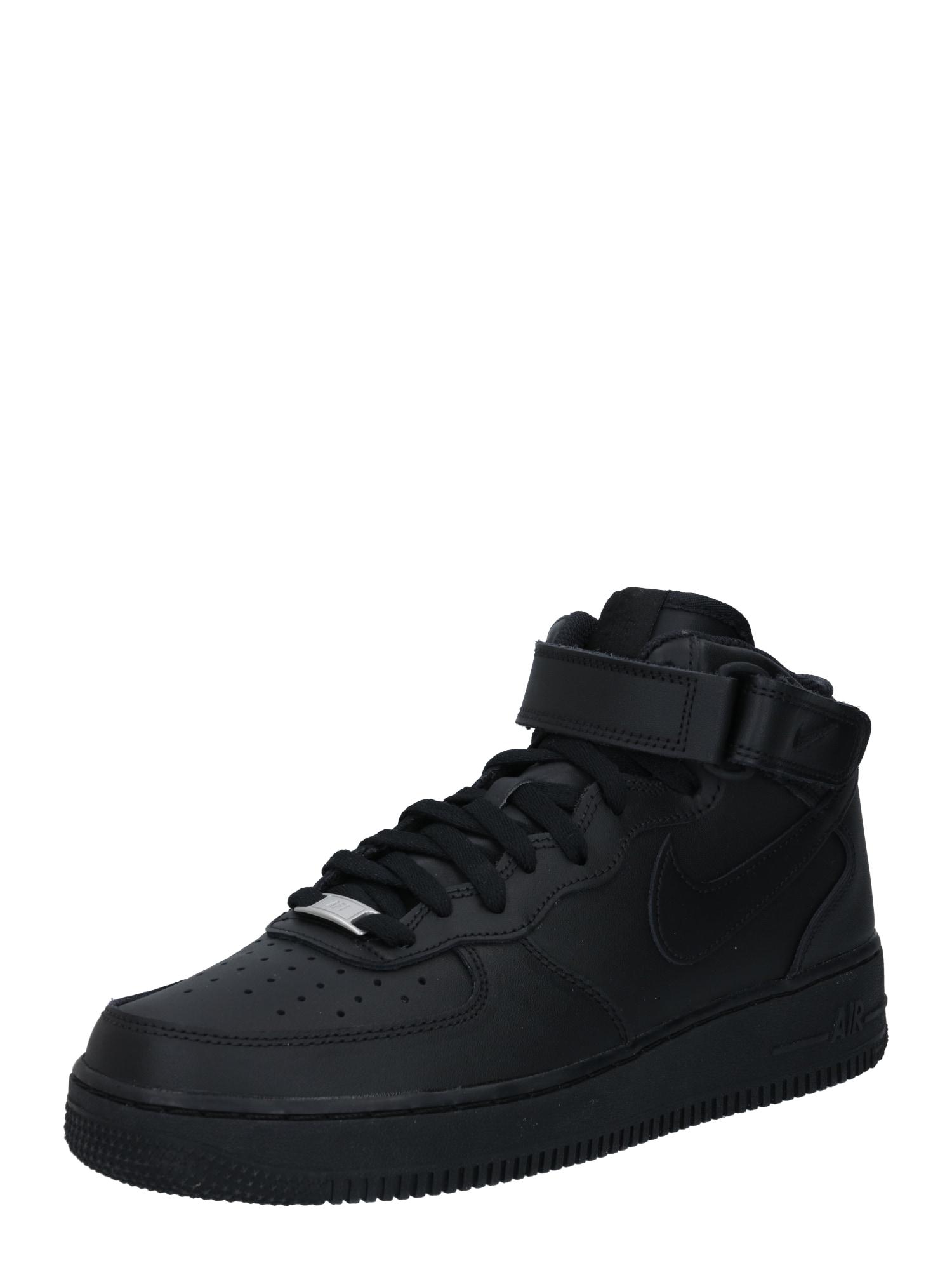 Nike Sportswear Sportbačiai su auliuku 'AIR FORCE 1 07' juoda