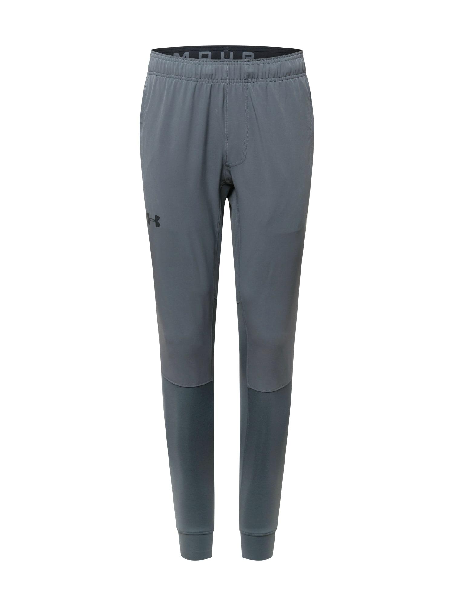 UNDER ARMOUR Sportovní kalhoty 'HYBRID'  šedá / tmavě šedá