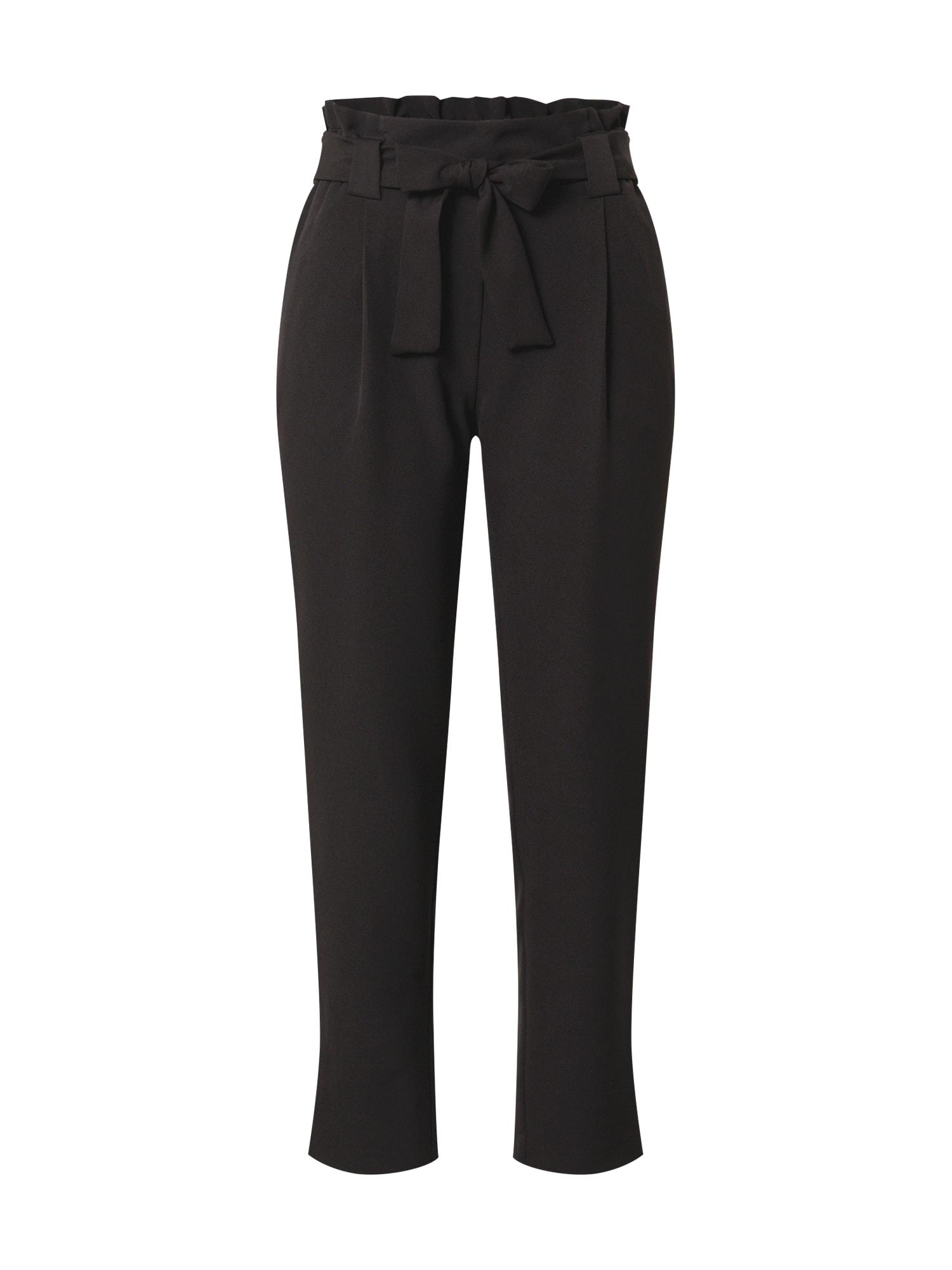 JACQUELINE de YONG Kalhoty se sklady v pase 'ASTA'  černá