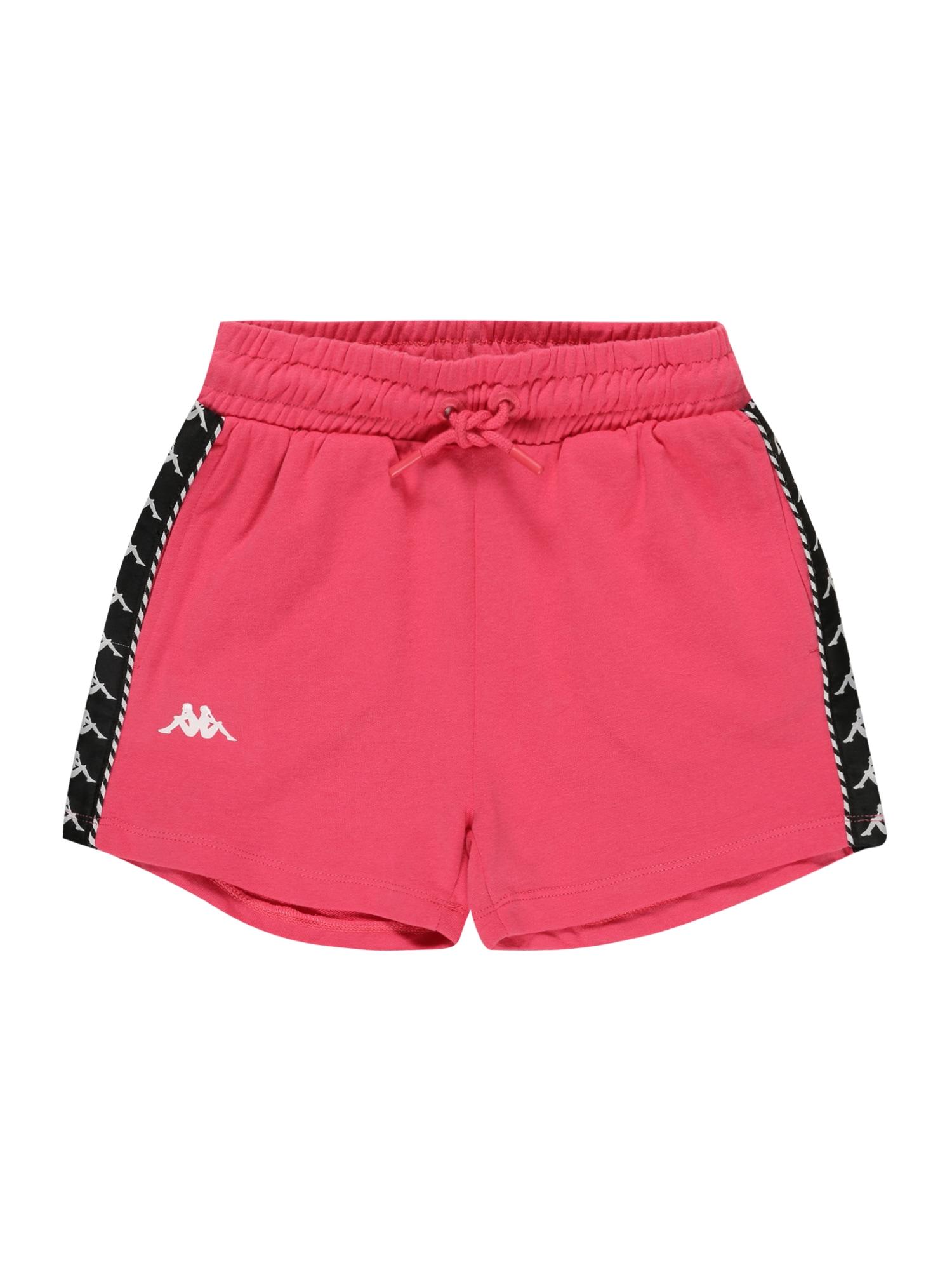 KAPPA Sportinės kelnės rožinė / juoda / balta