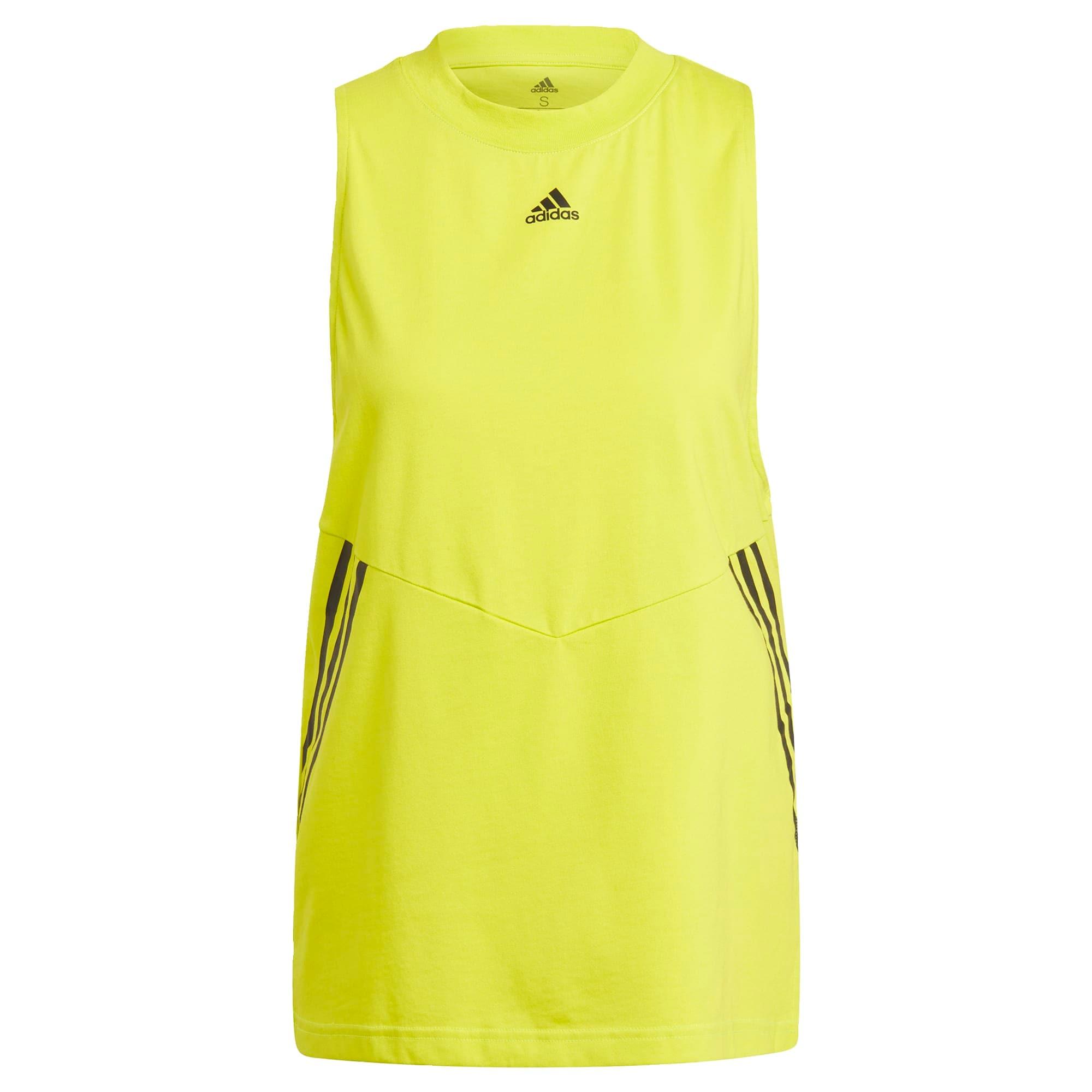 ADIDAS PERFORMANCE Sportiniai marškinėliai be rankovių neoninė geltona / juoda