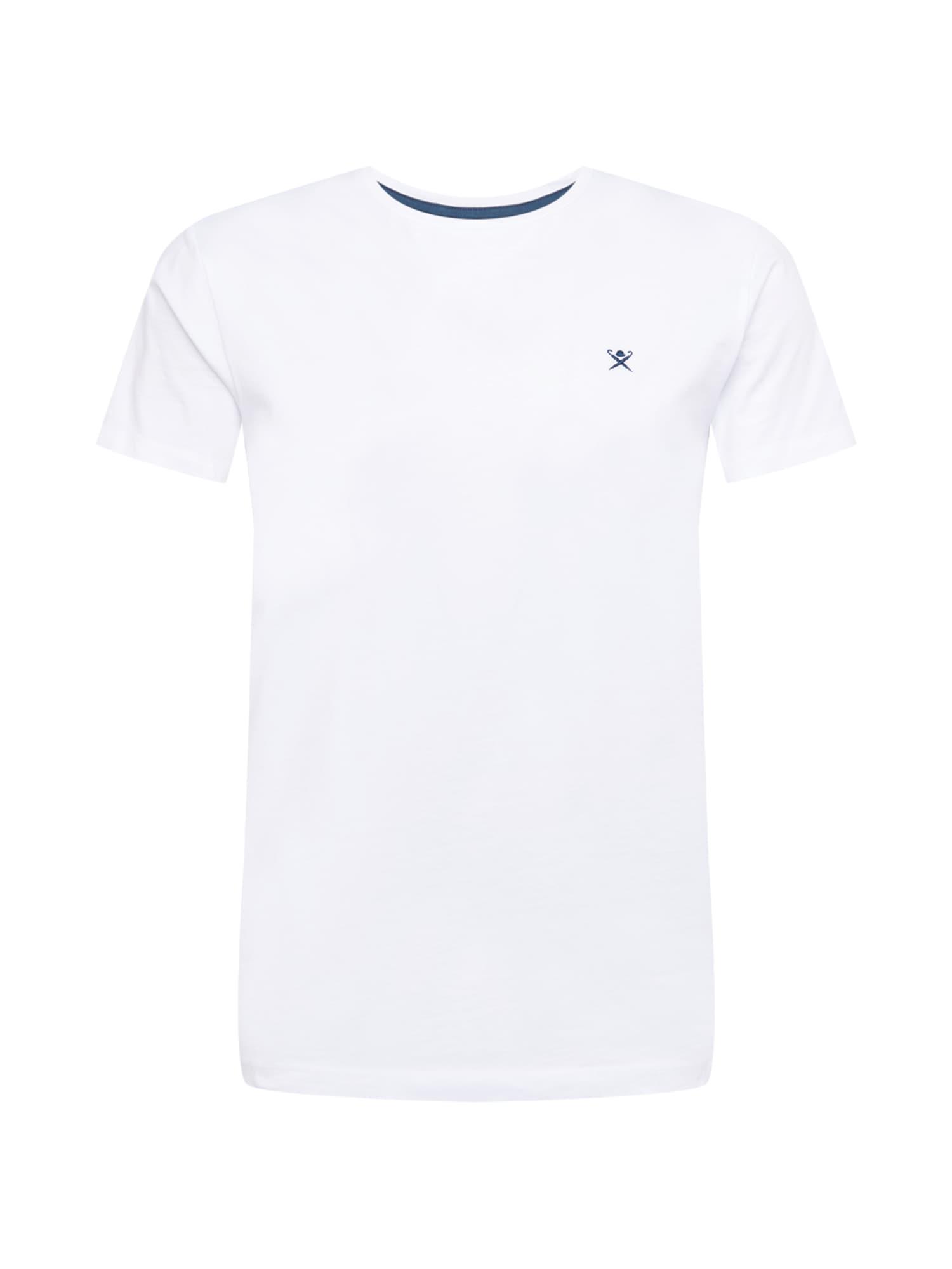 Hackett London Marškinėliai balta / tamsiai mėlyna