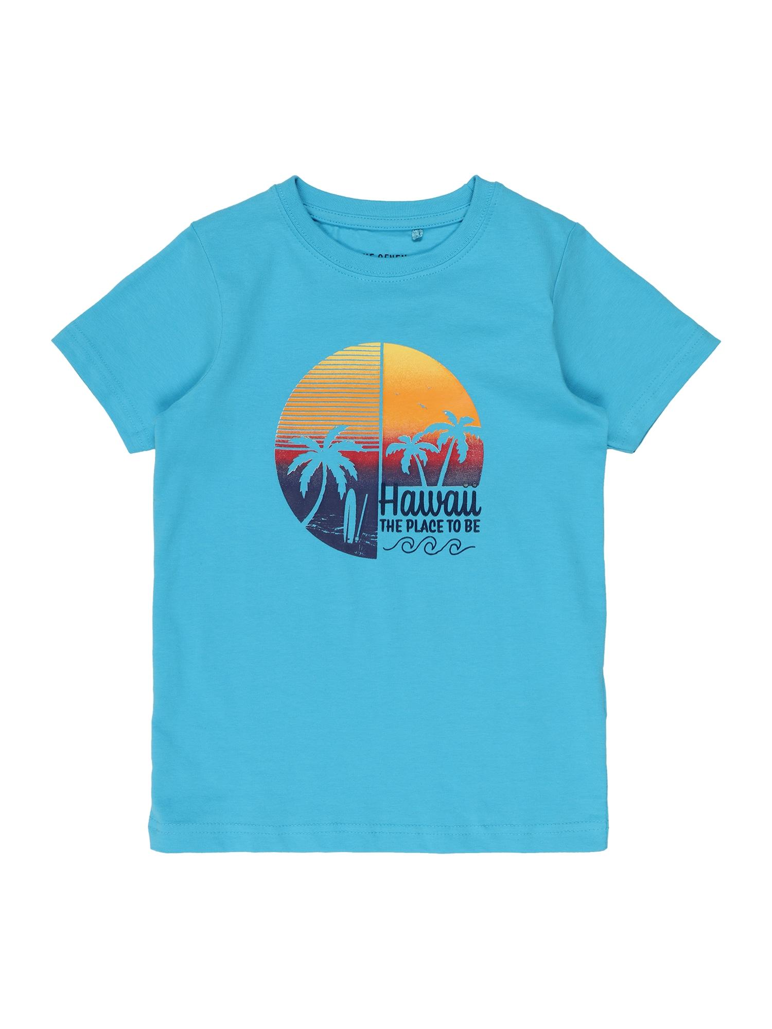 BLUE SEVEN Marškinėliai turkio spalva / oranžinė / tamsiai mėlyna