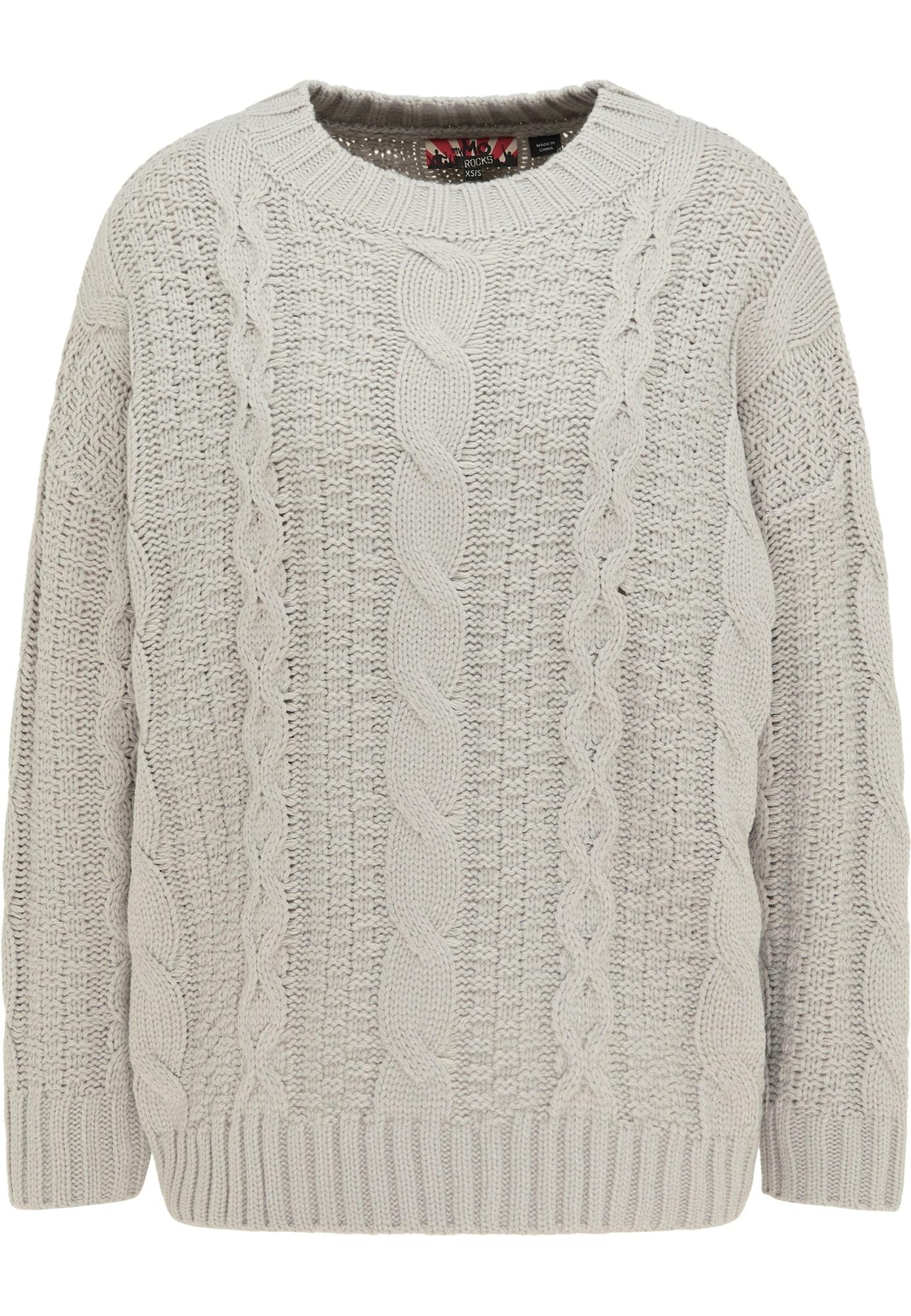 myMo ROCKS Laisvas megztinis pilka