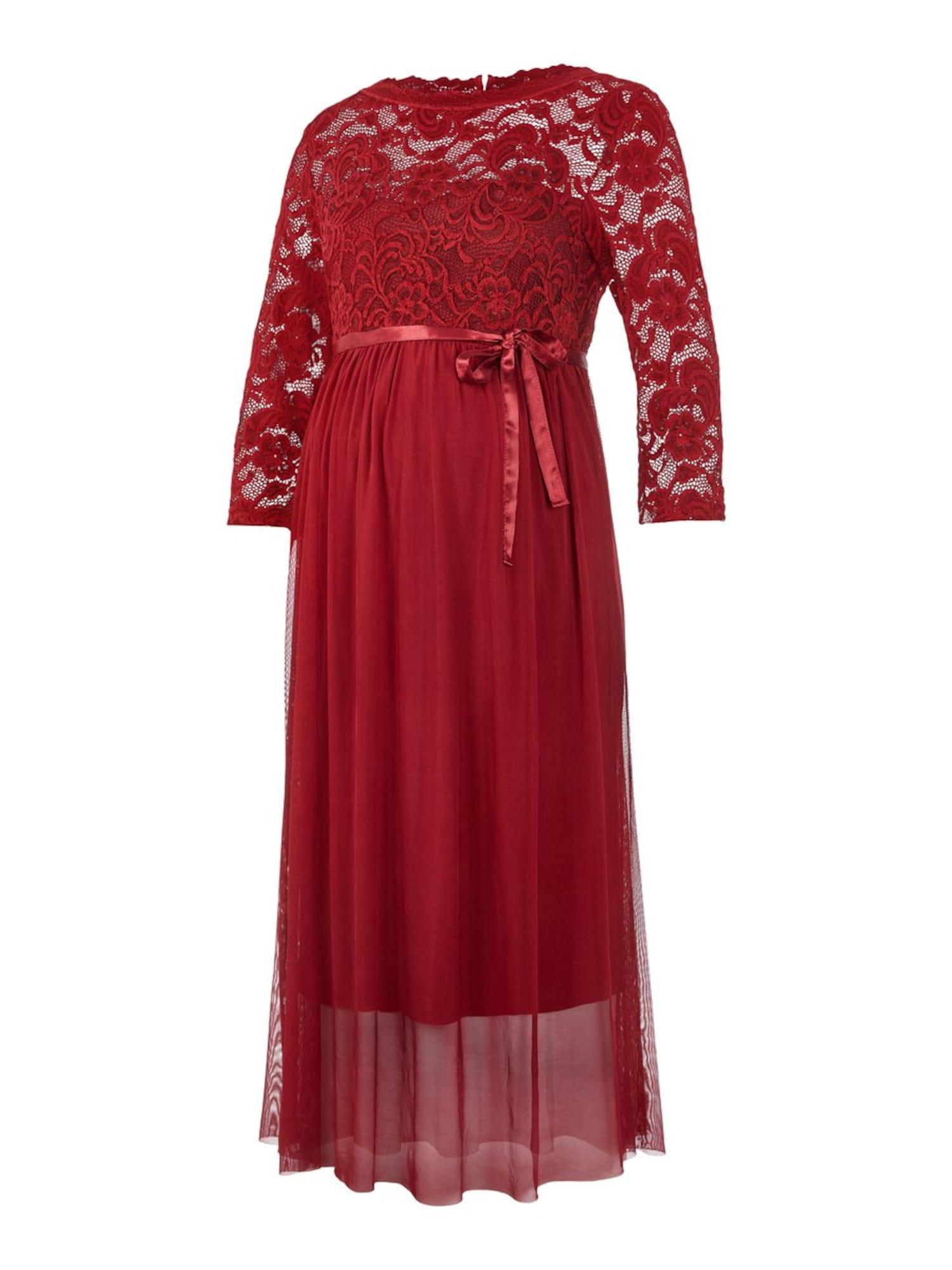 MAMALICIOUS Suknelė kraujo spalva