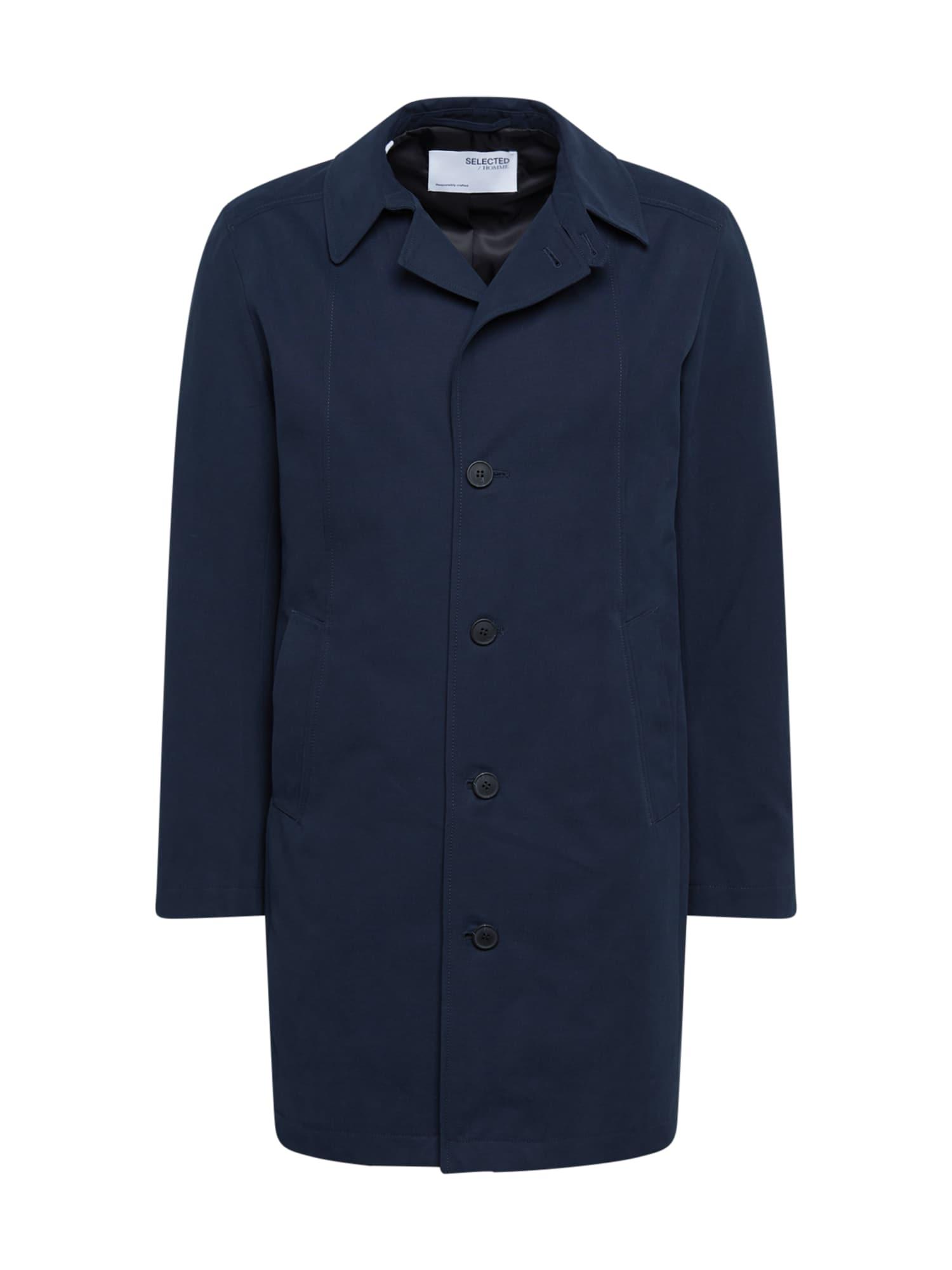 SELECTED HOMME Demisezoninis paltas tamsiai mėlyna jūros spalva