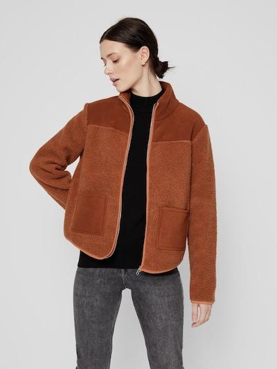 Pieces Sadie Fleece-Jacke aus Teddystoff mit Reißverschluss