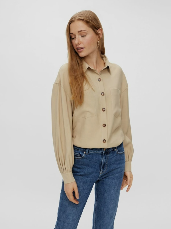 Pieces Elli Long Sleeve Oversized Shirt