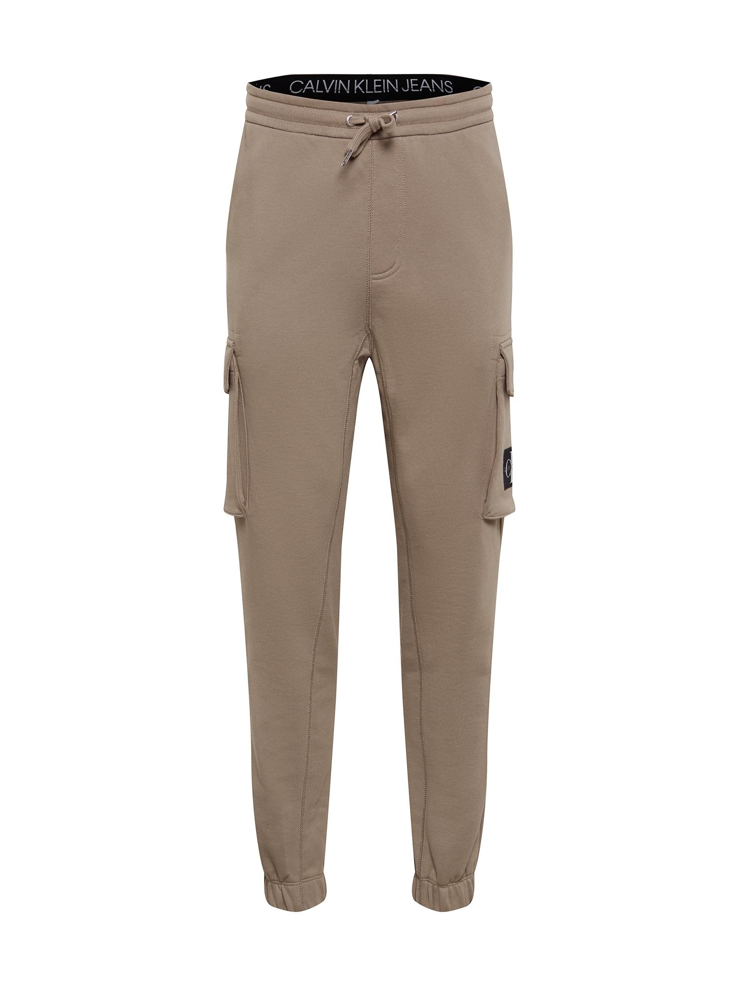 Calvin Klein Jeans Laisvo stiliaus kelnės smėlio