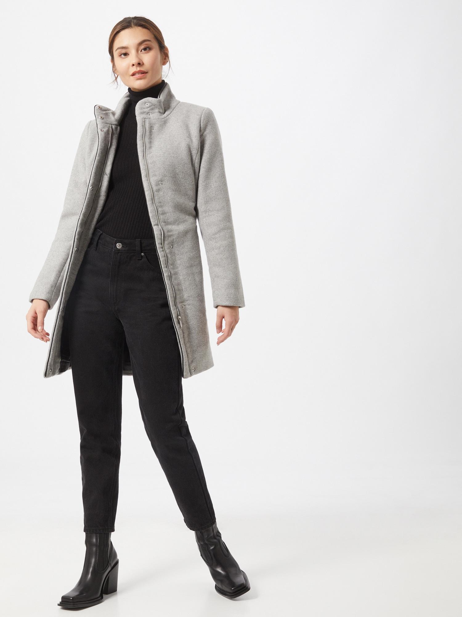 ONLY Prechodný kabát  sivá.