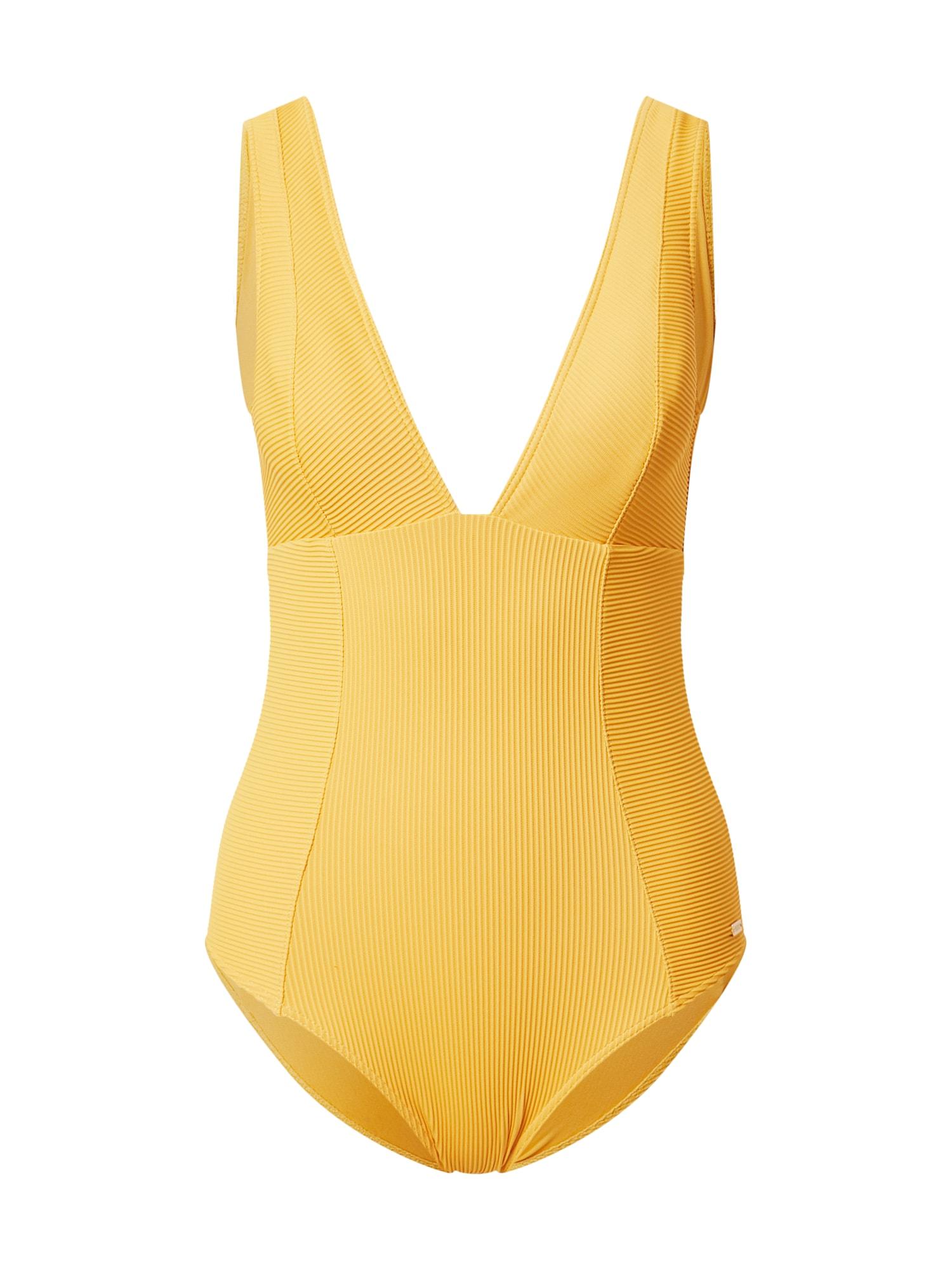 ROXY Maudymosi kostiumėlis aukso geltonumo spalva
