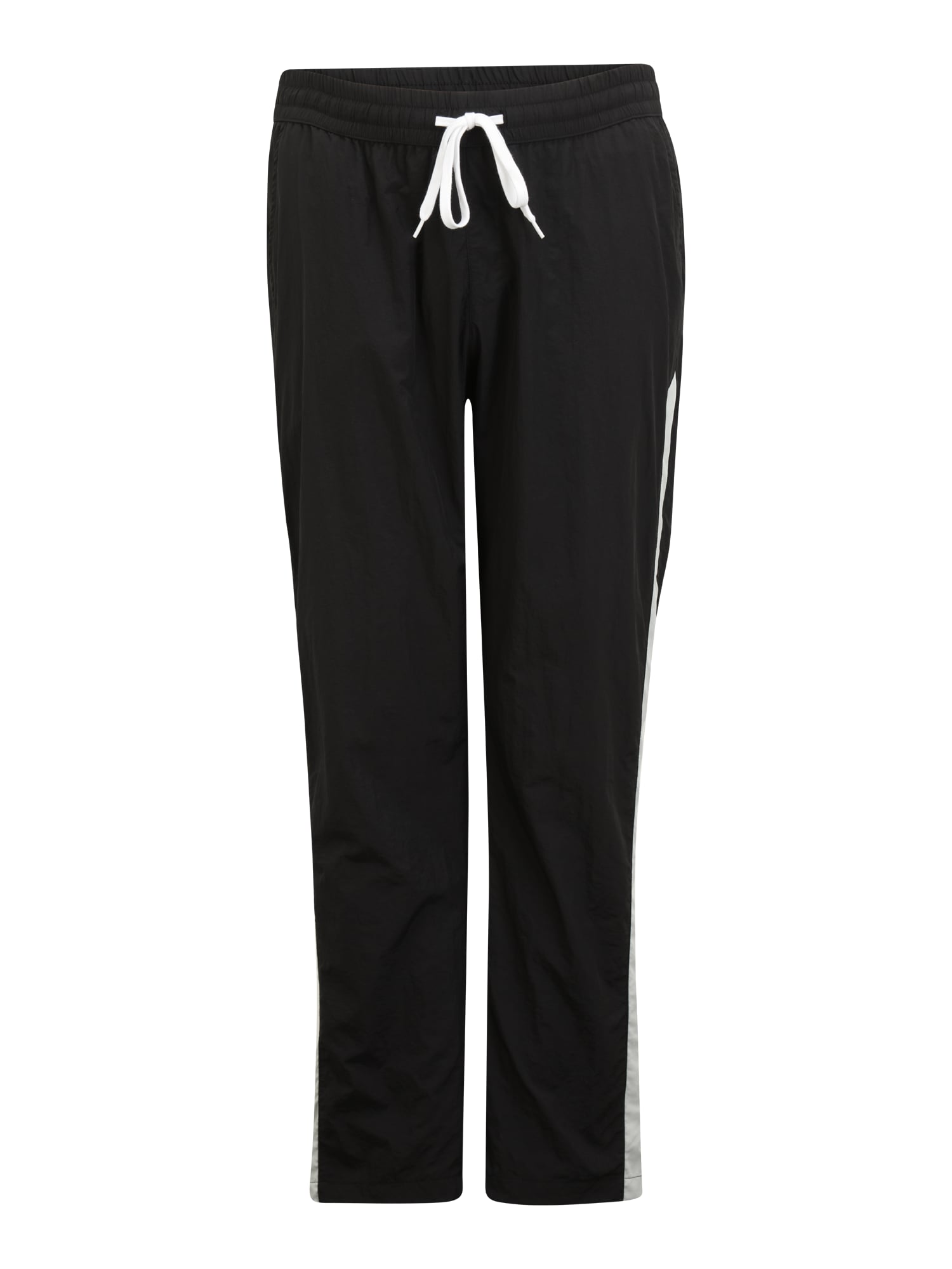 Urban Classics Plus Size Kelnės juoda / balta