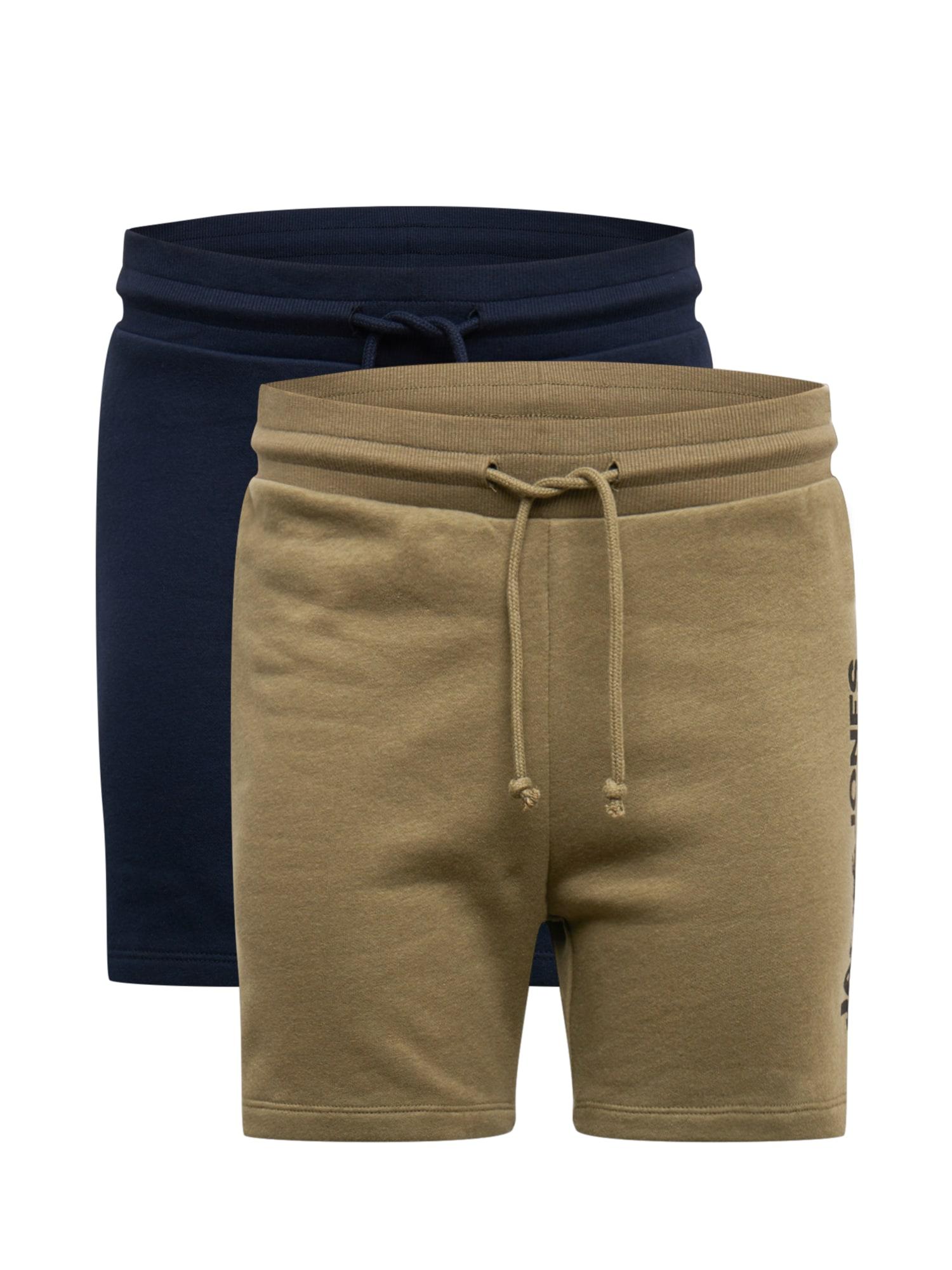 JACK & JONES Kelnės 'HARRY' alyvuogių spalva / tamsiai mėlyna