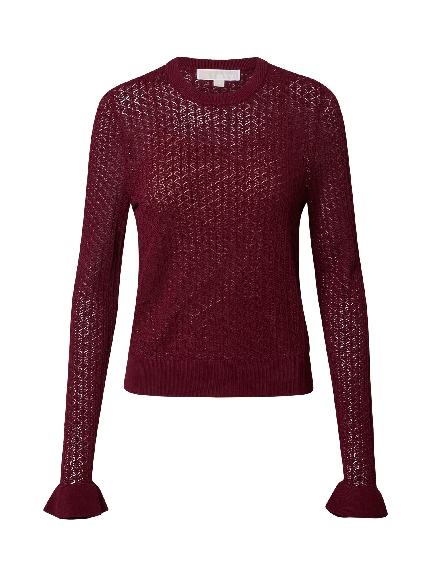 MICHAEL Michael Kors Marškinėliai vyno raudona spalva