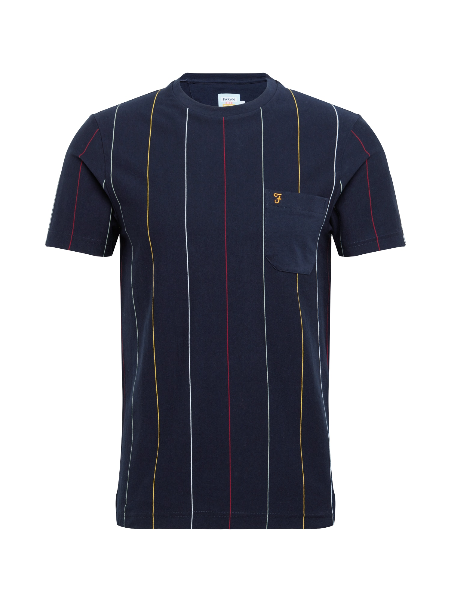 FARAH Tričko 'BINLEY'  námořnická modř / bílá / žlutá / červená