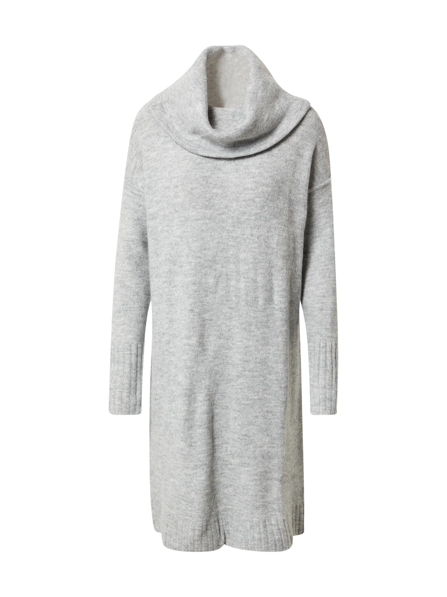 VERO MODA Úpletové šaty 'LUCI'  šedá