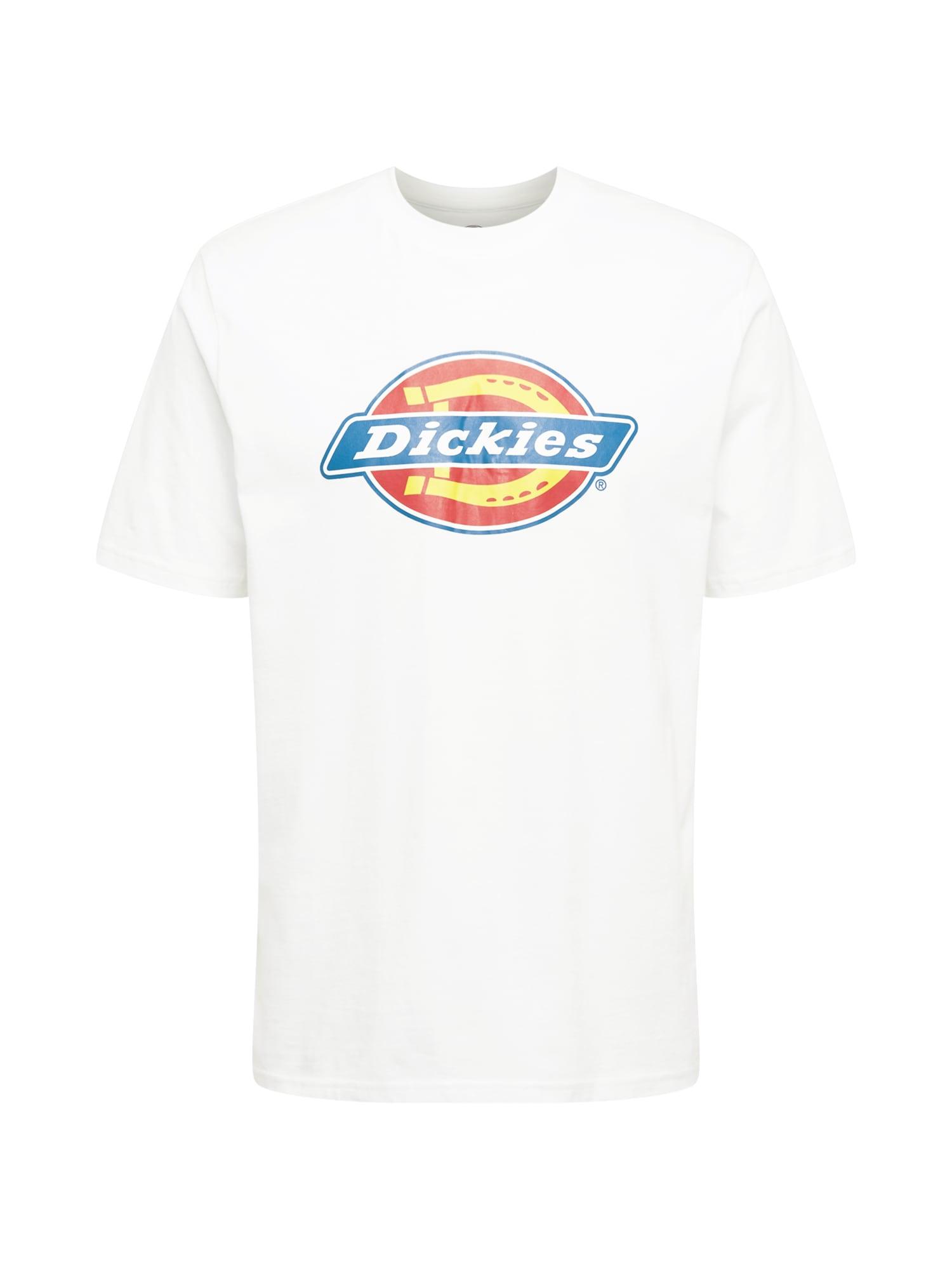 DICKIES Marškinėliai balta / dangaus žydra / pastelinė raudona / geltona