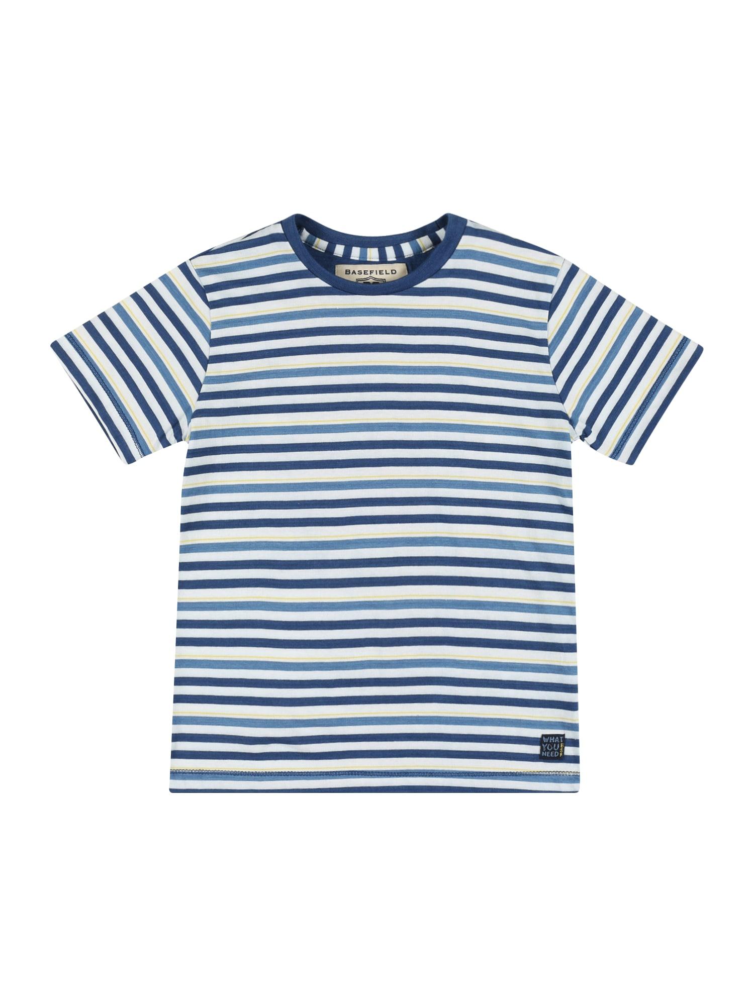 BASEFIELD Marškinėliai mėlyna / balta / geltona