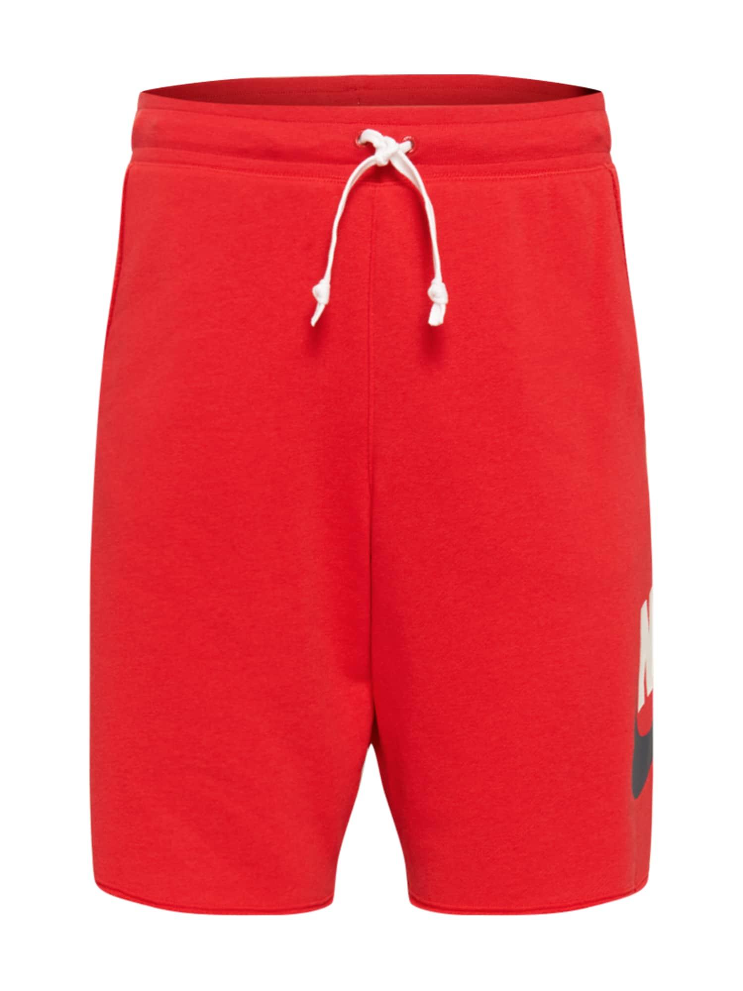Nike Sportswear Kelnės raudona / balta / tamsiai mėlyna jūros spalva