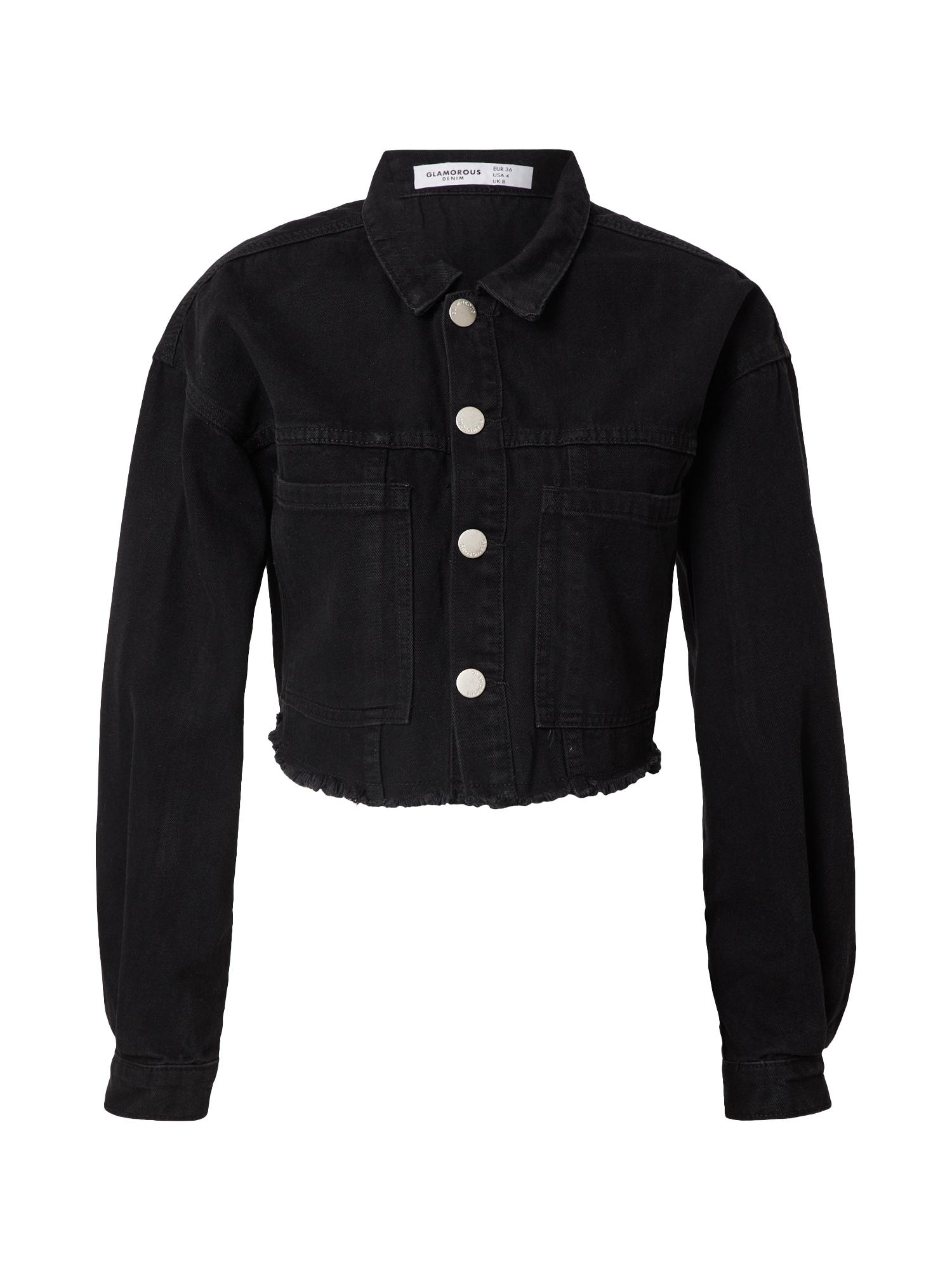 GLAMOROUS Demisezoninė striukė juodo džinso spalva