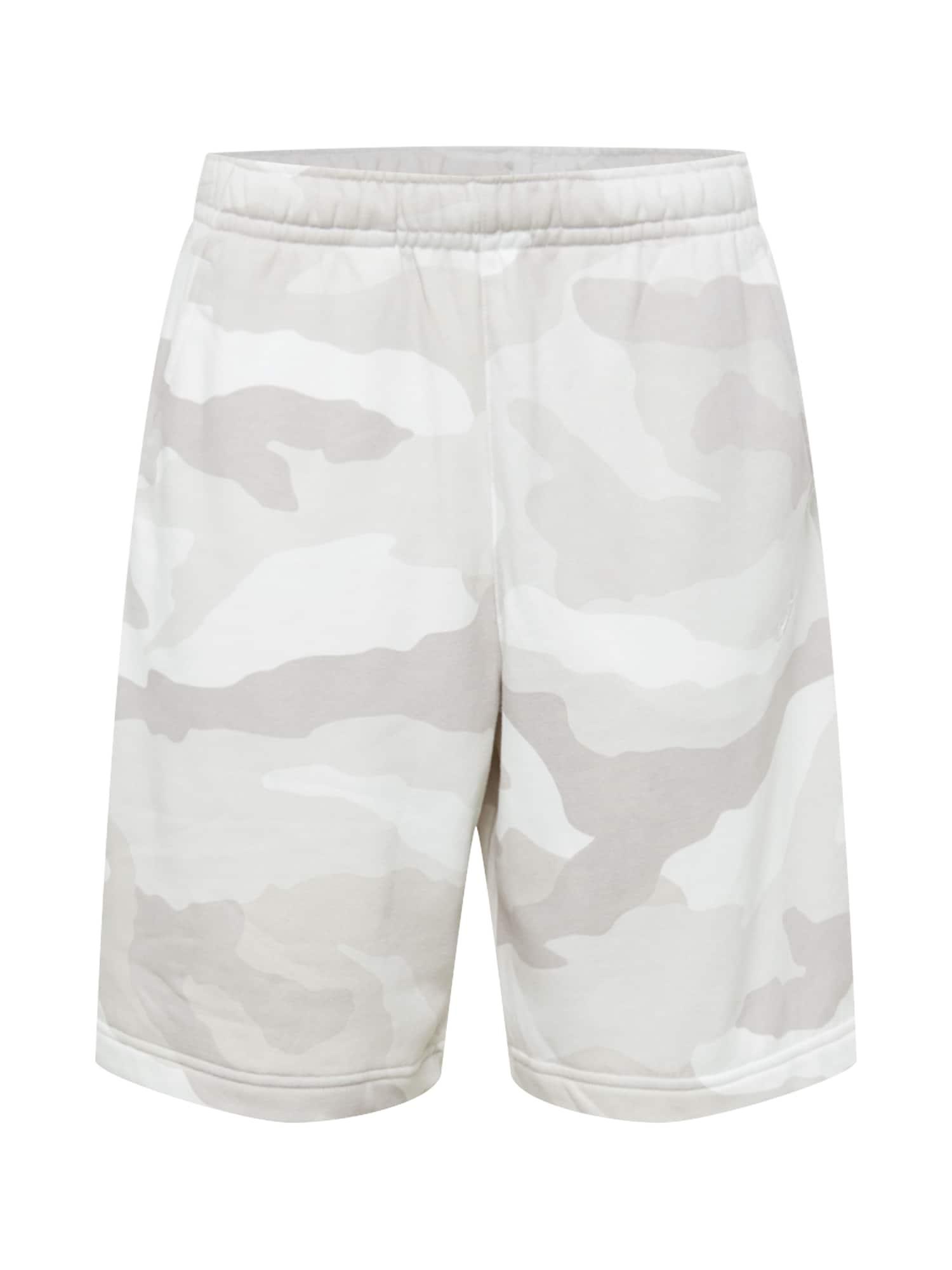 Nike Sportswear Kelnės balta / šviesiai pilka / pilka