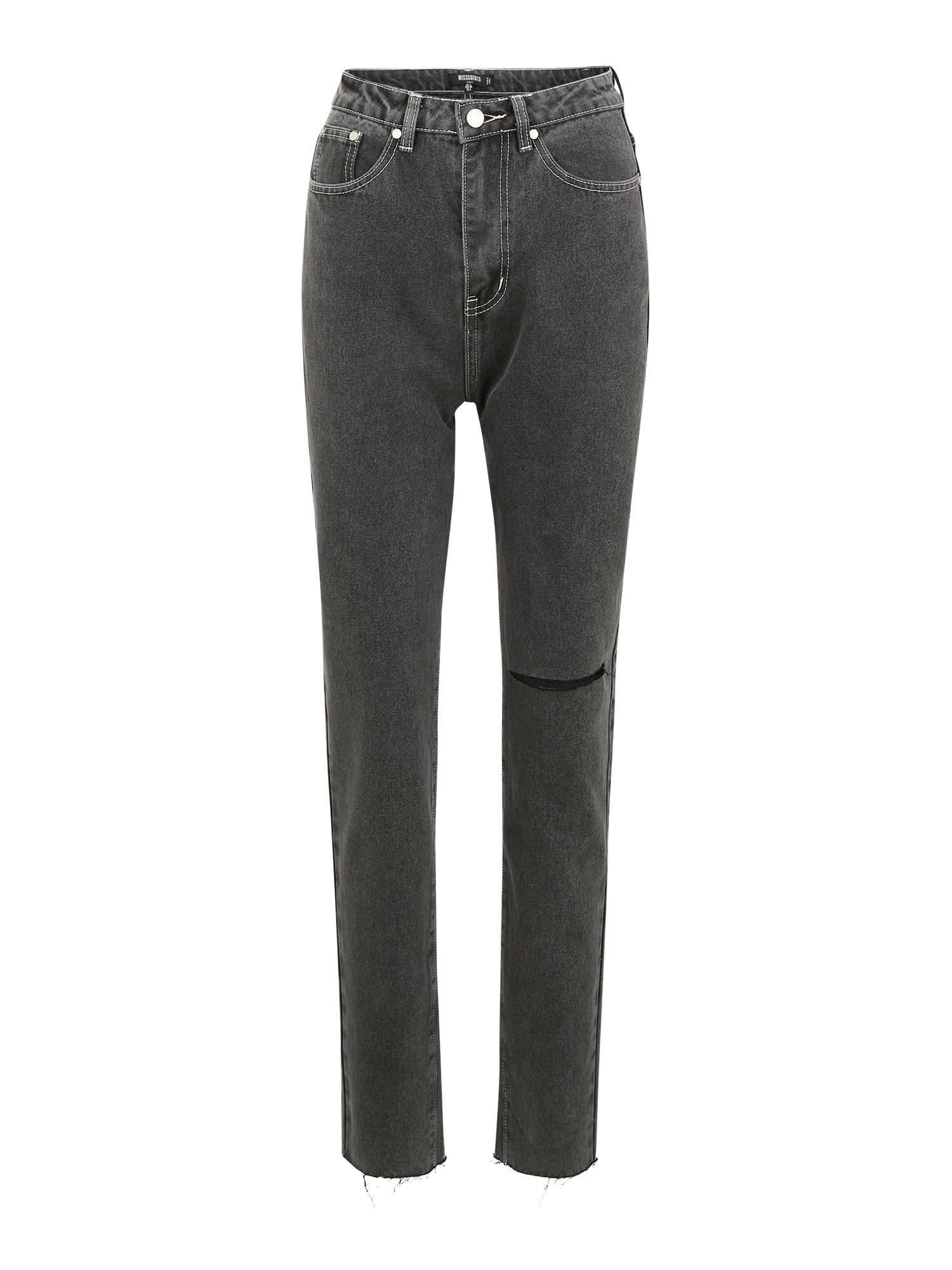 Missguided (Tall) Džinsai juodo džinso spalva