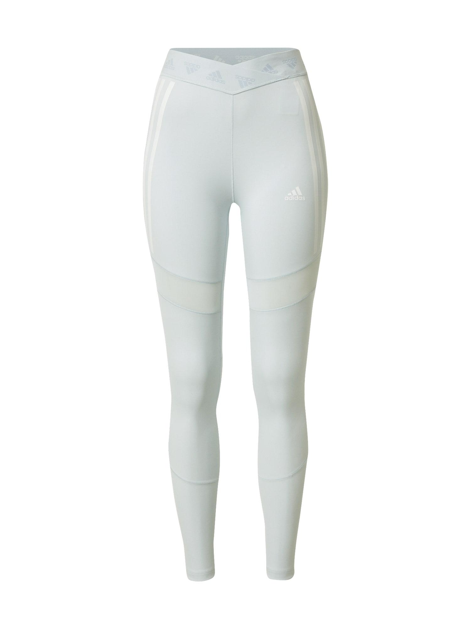 ADIDAS PERFORMANCE Sportovní kalhoty  světlemodrá / bílá