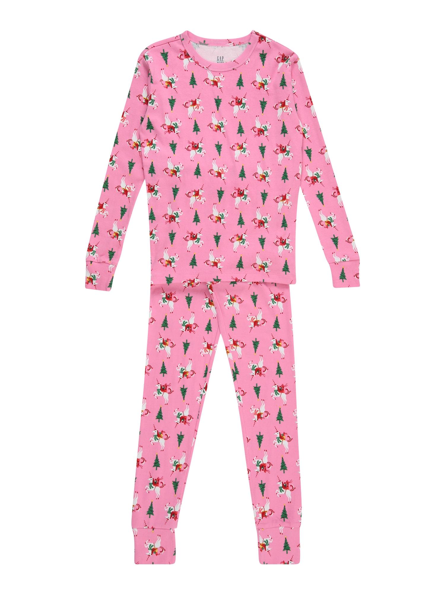 GAP Miego kostiumas 'Xmas' rožinė / žalia / balta