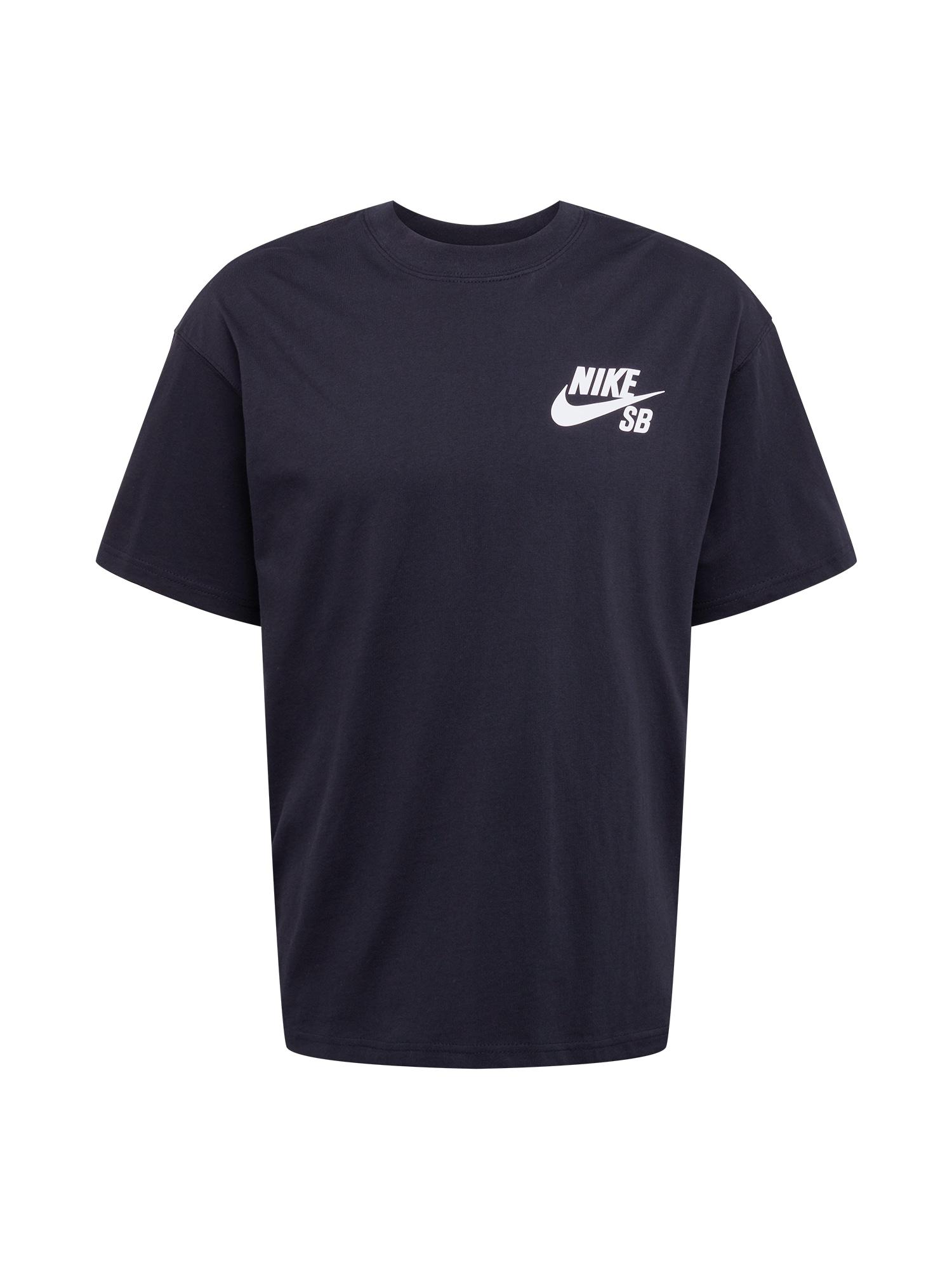 Nike SB Marškinėliai balta / juoda