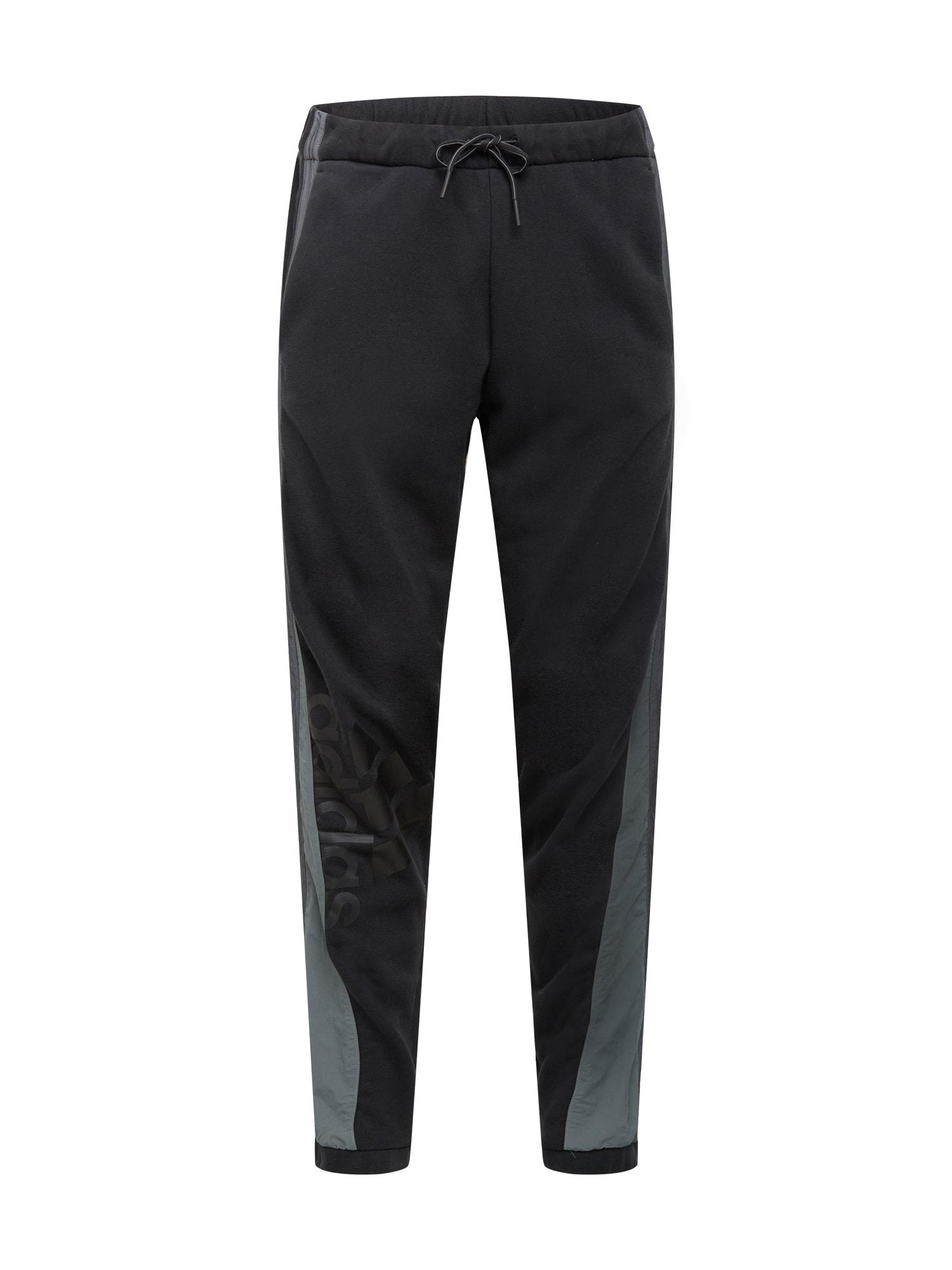 ADIDAS PERFORMANCE Sportinės kelnės juoda / pilka / tamsiai pilka