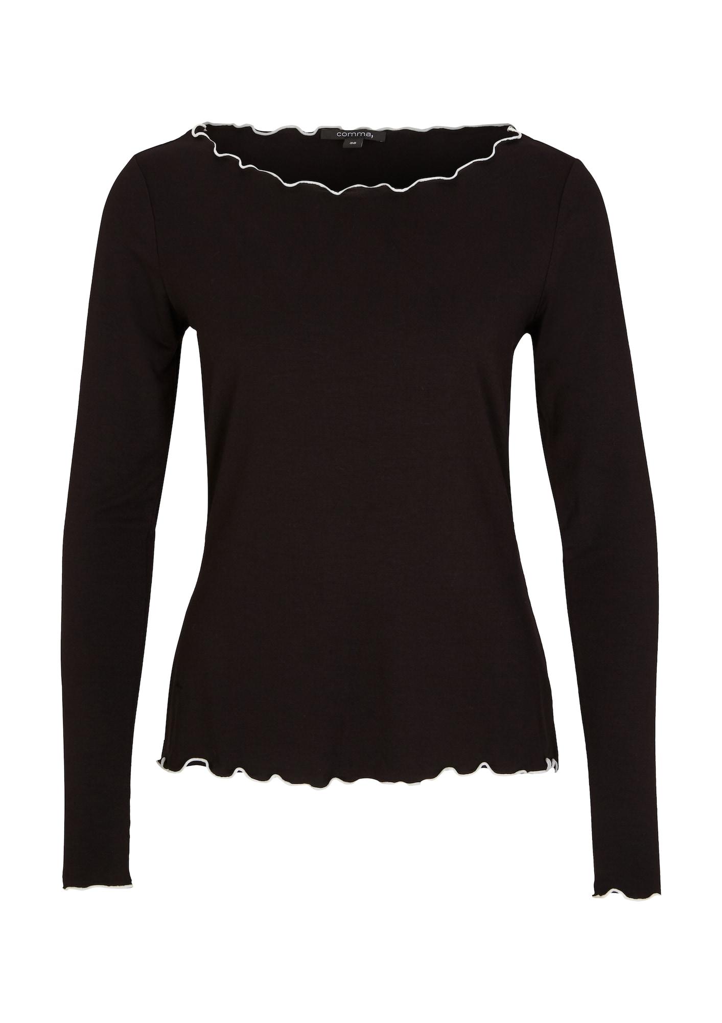 COMMA Marškinėliai juoda / balta