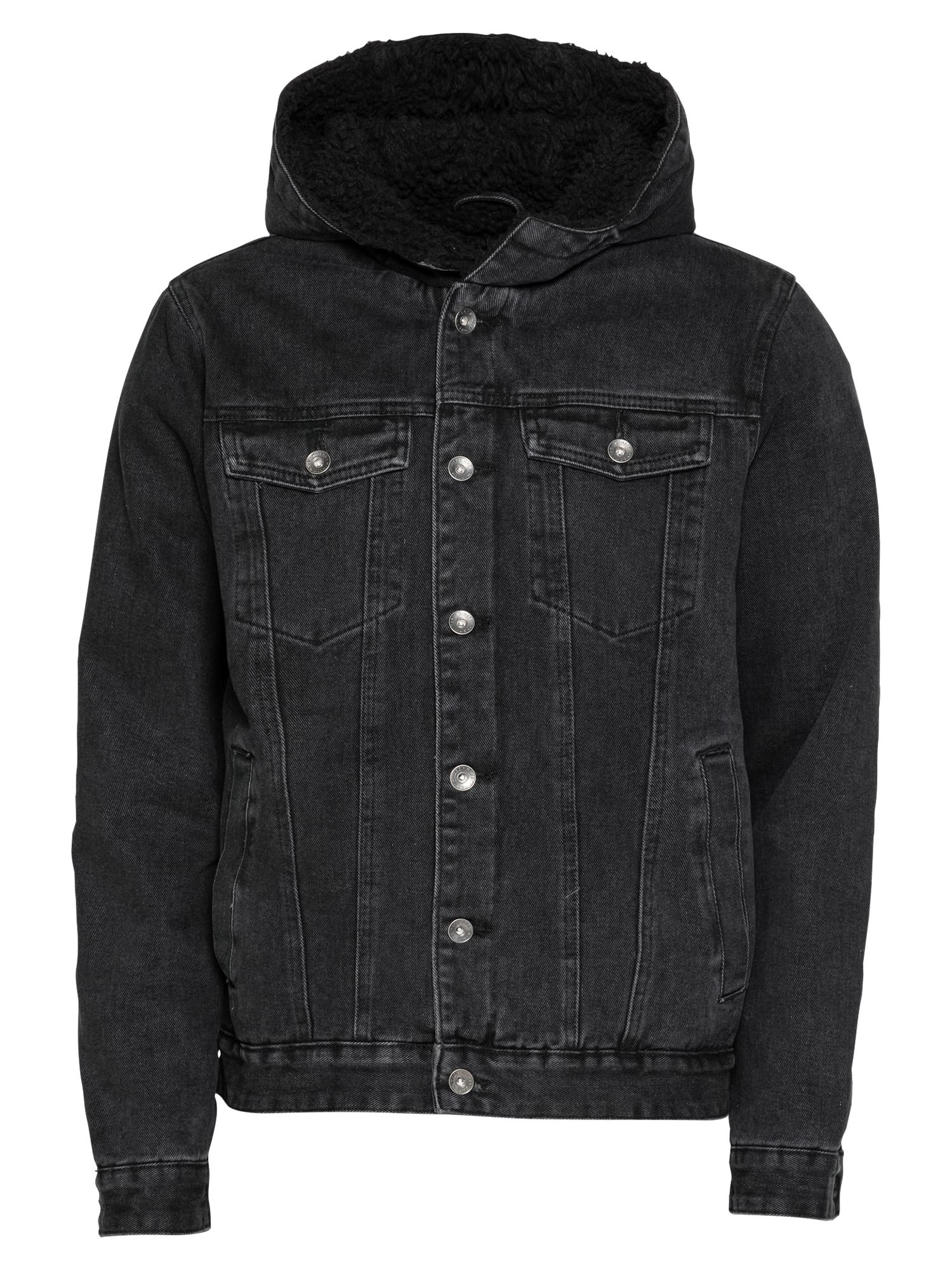 Cotton On Demisezoninė striukė juodo džinso spalva