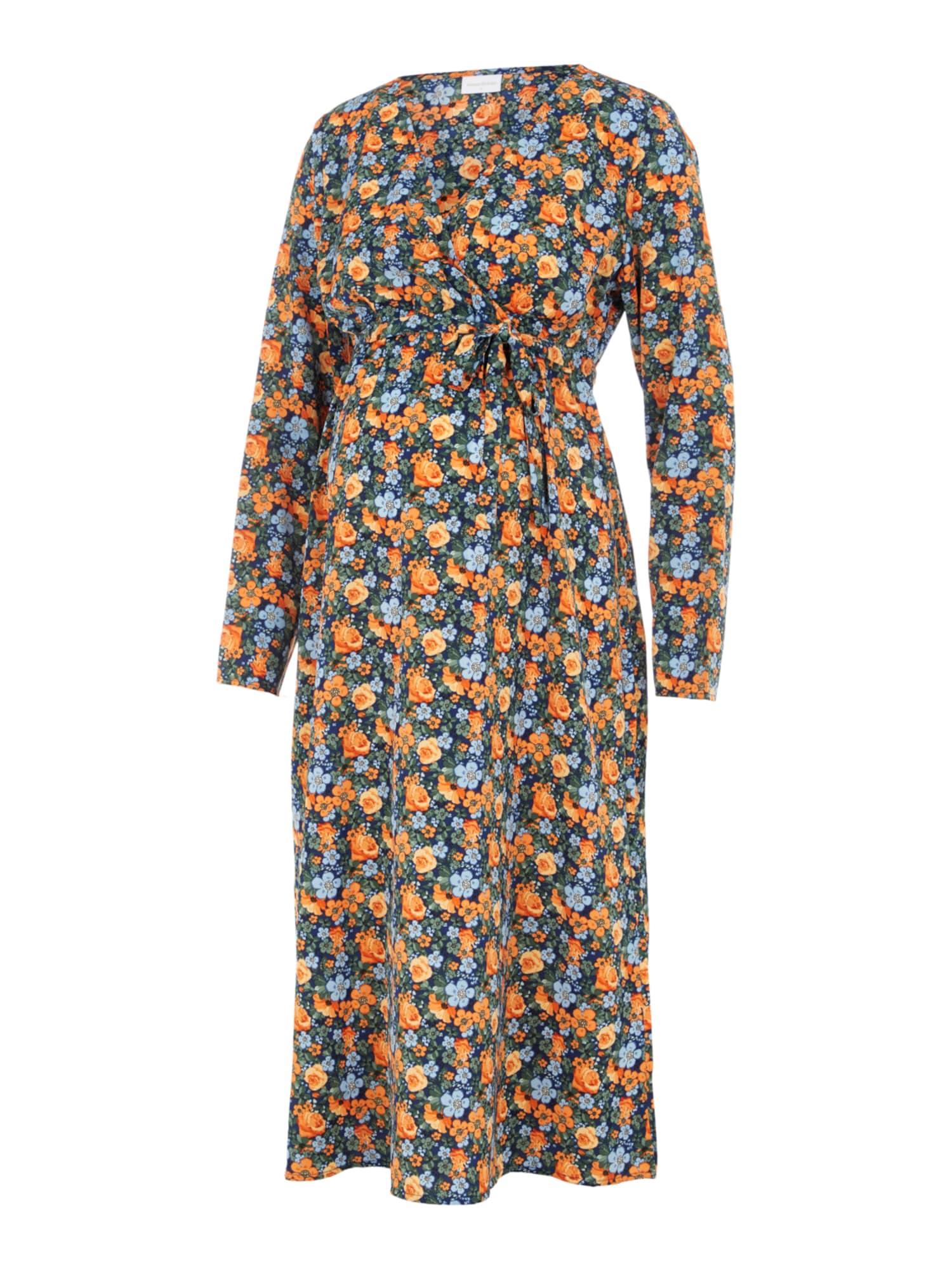 MAMALICIOUS Suknelė 'SIGA' dangaus žydra / oranžinė / šviesiai mėlyna / šviesiai žalia