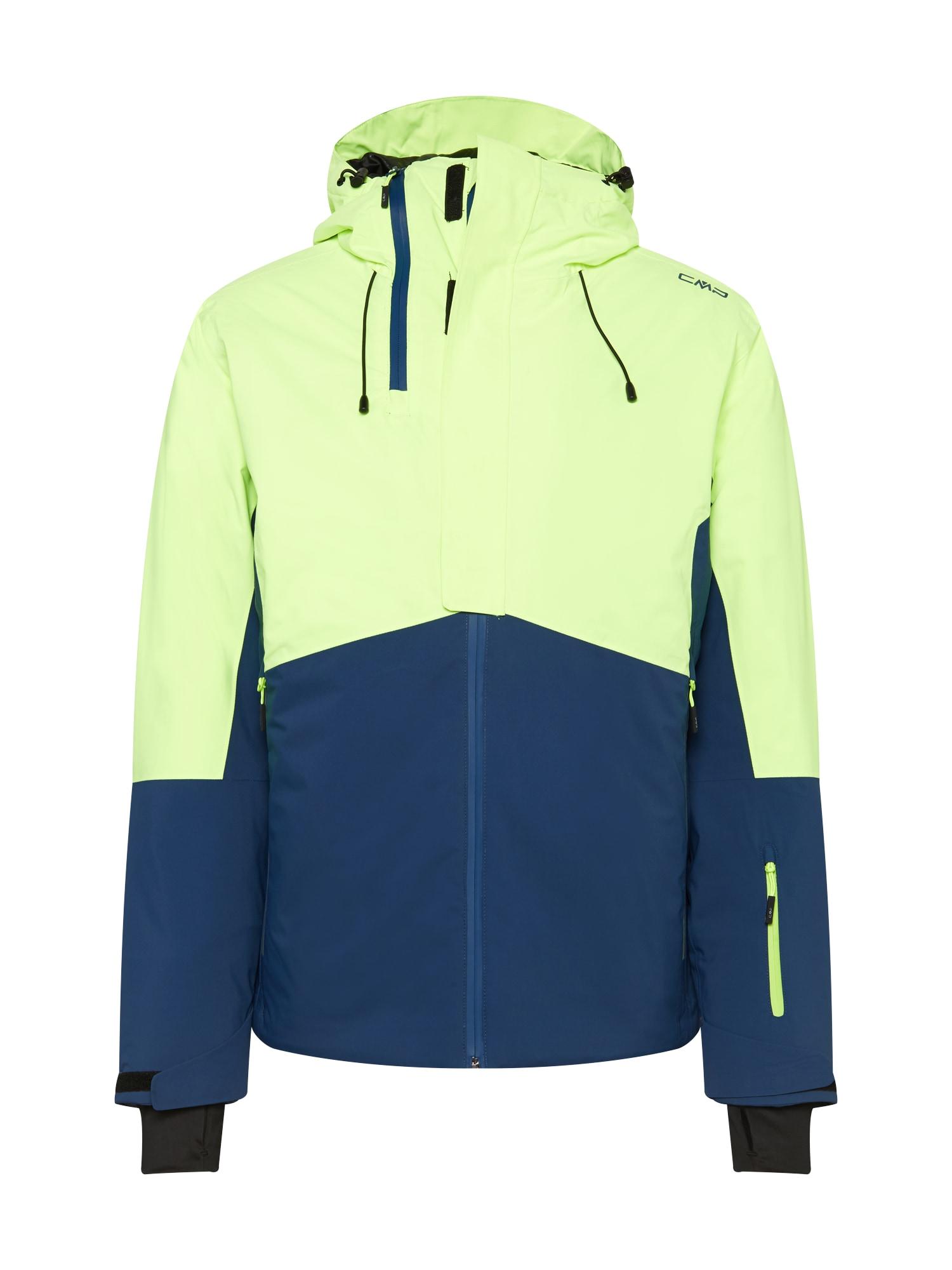 CMP Sportinė striukė neoninė geltona / tamsiai mėlyna / juoda