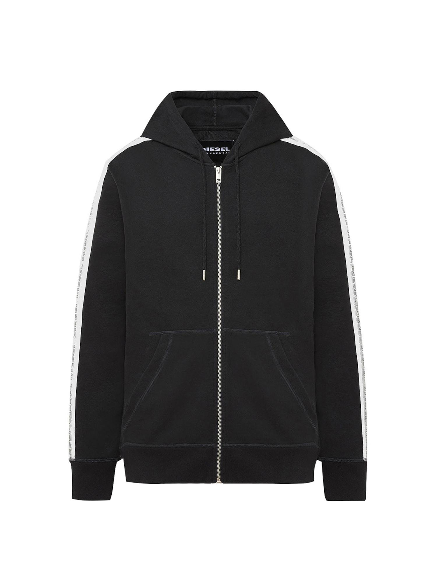 DIESEL Džemperis juoda / balta