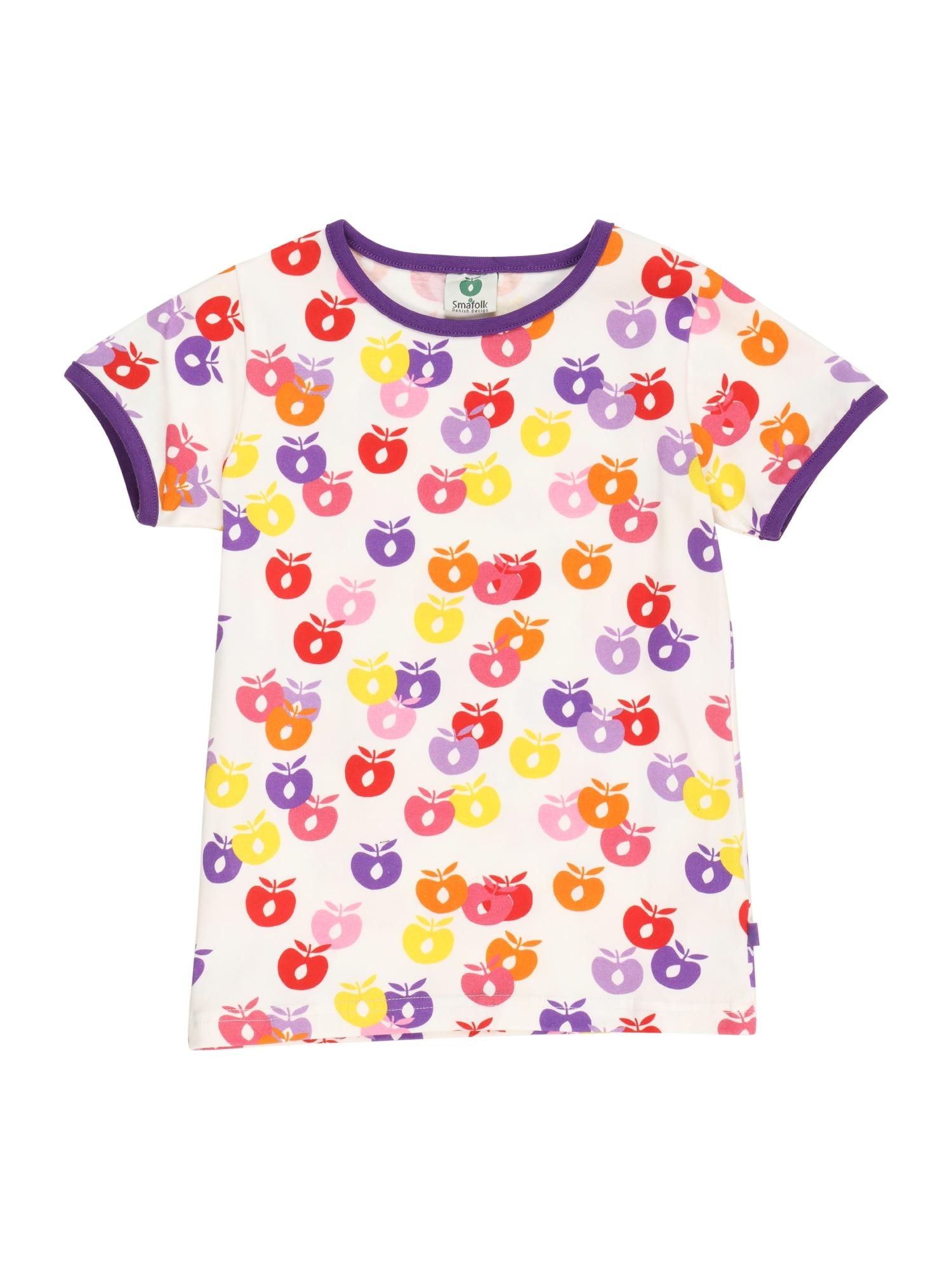 Småfolk Marškinėliai geltona / šviesiai geltona / tamsiai violetinė / raudona