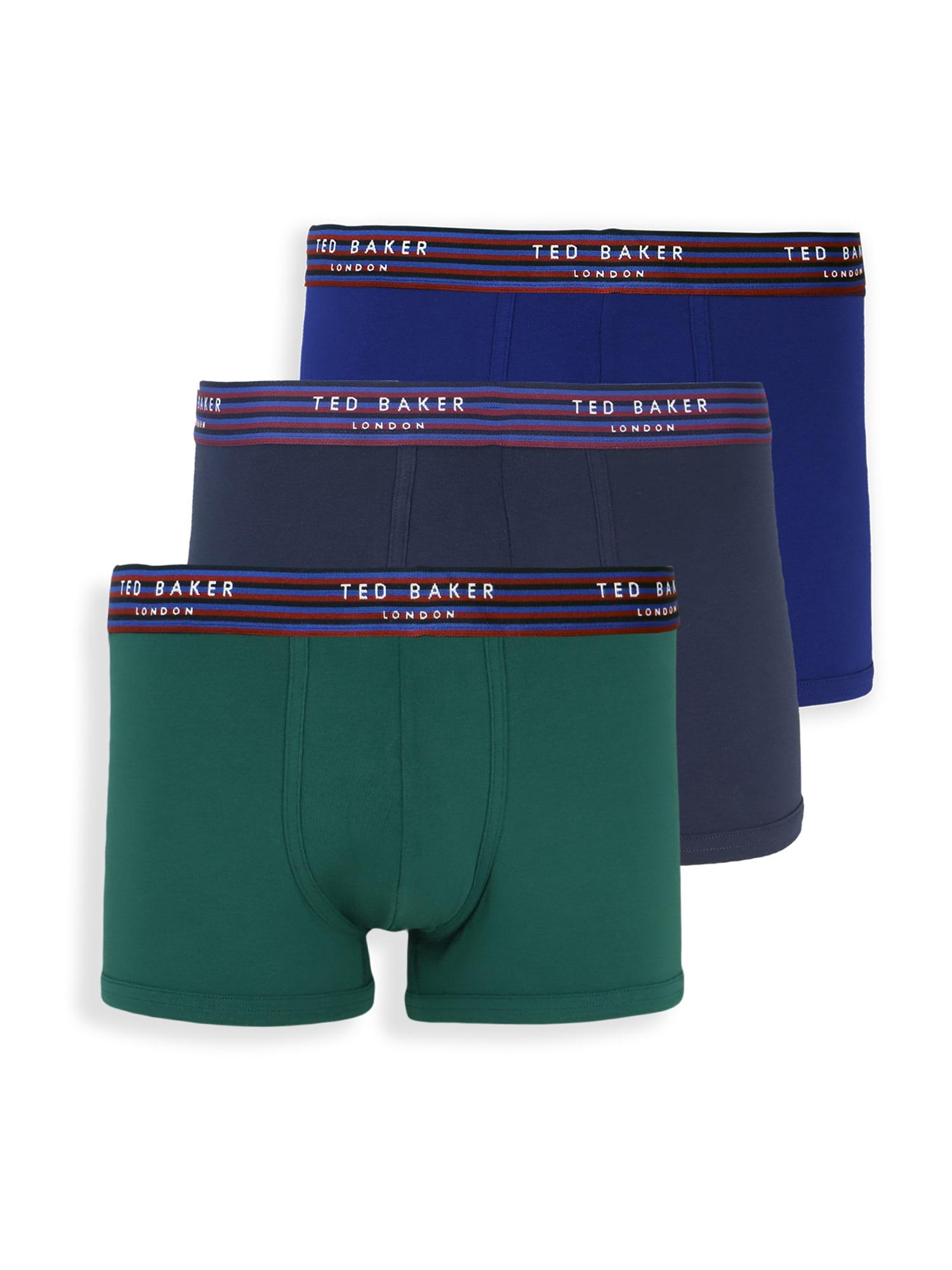 Ted Baker Boxer trumpikės mėlyna / tamsiai mėlyna / žalia