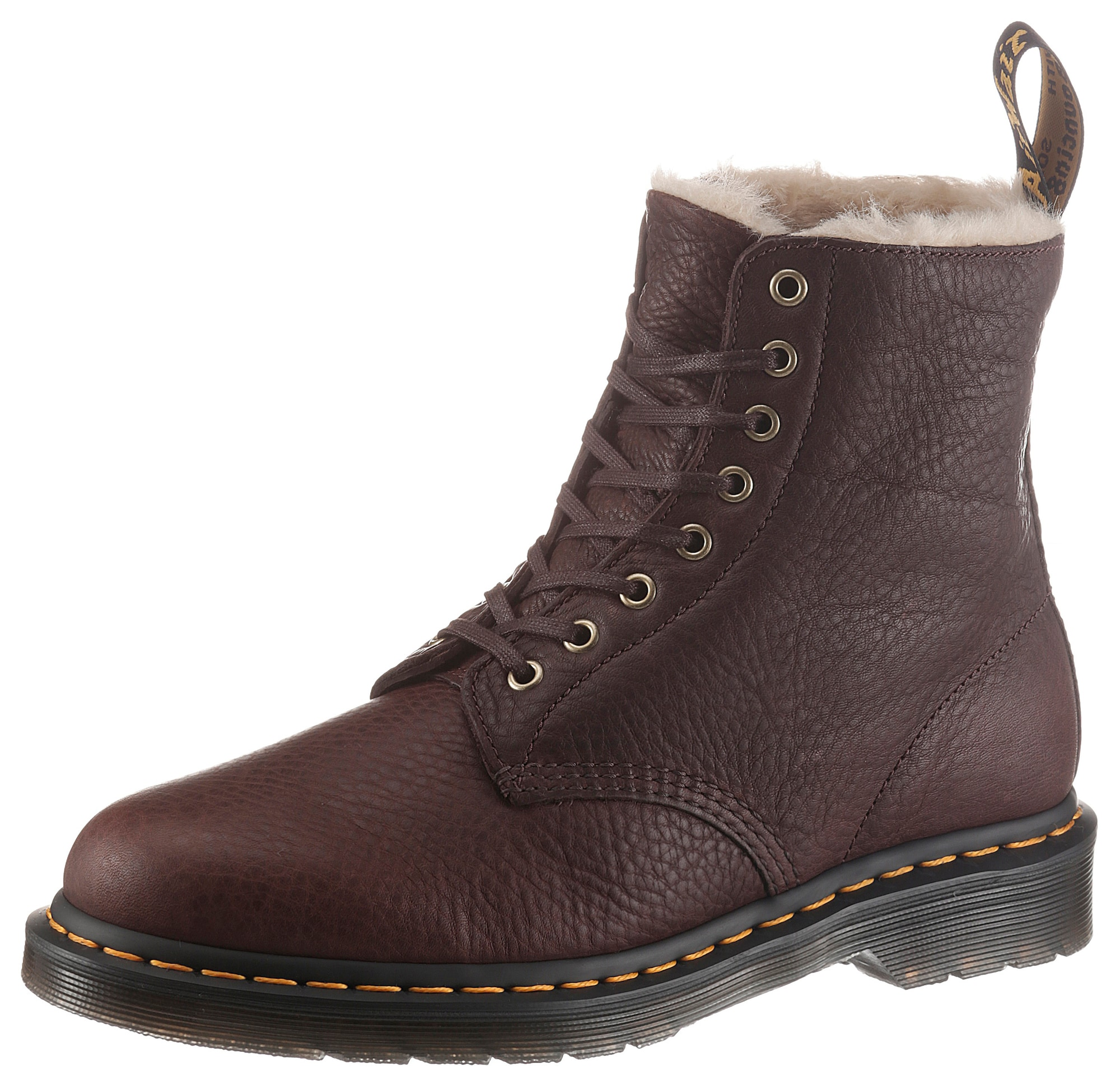 Dr. Martens Auliniai batai su raišteliais tamsiai ruda