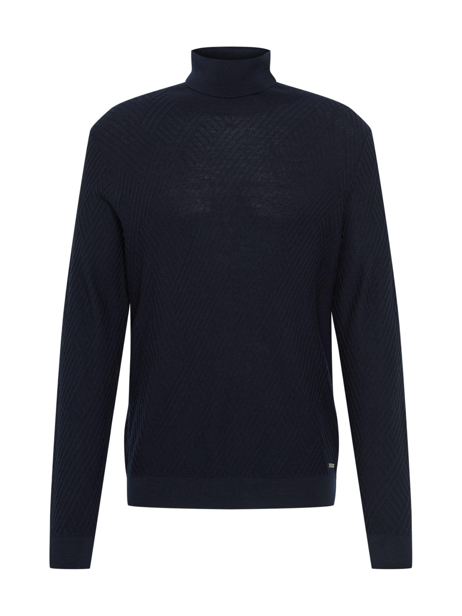 BRAX Megztinis 'Brian' tamsiai mėlyna