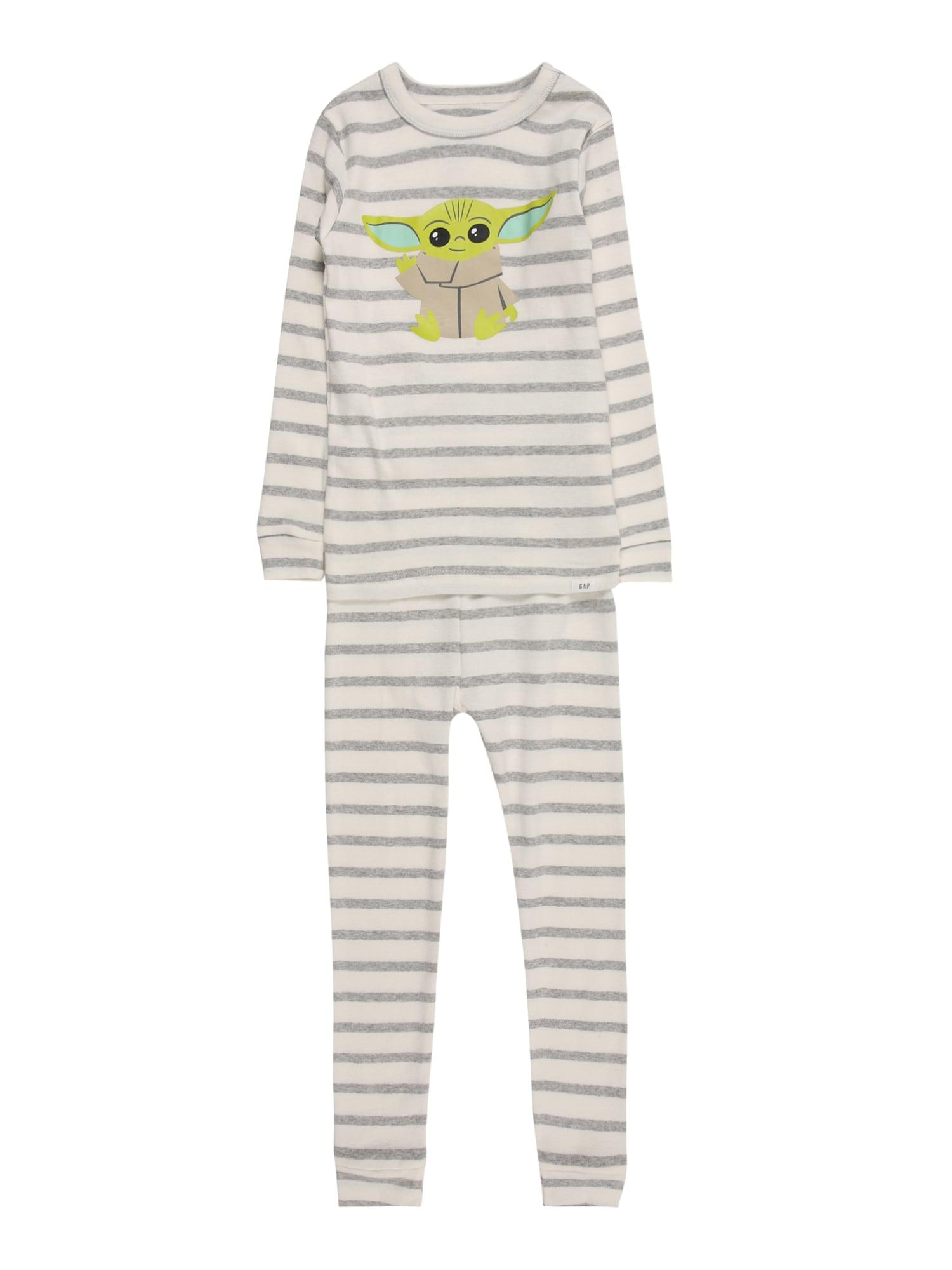 GAP Miego kostiumas balta / margai pilka / šviesiai žalia / gelsvai pilka spalva