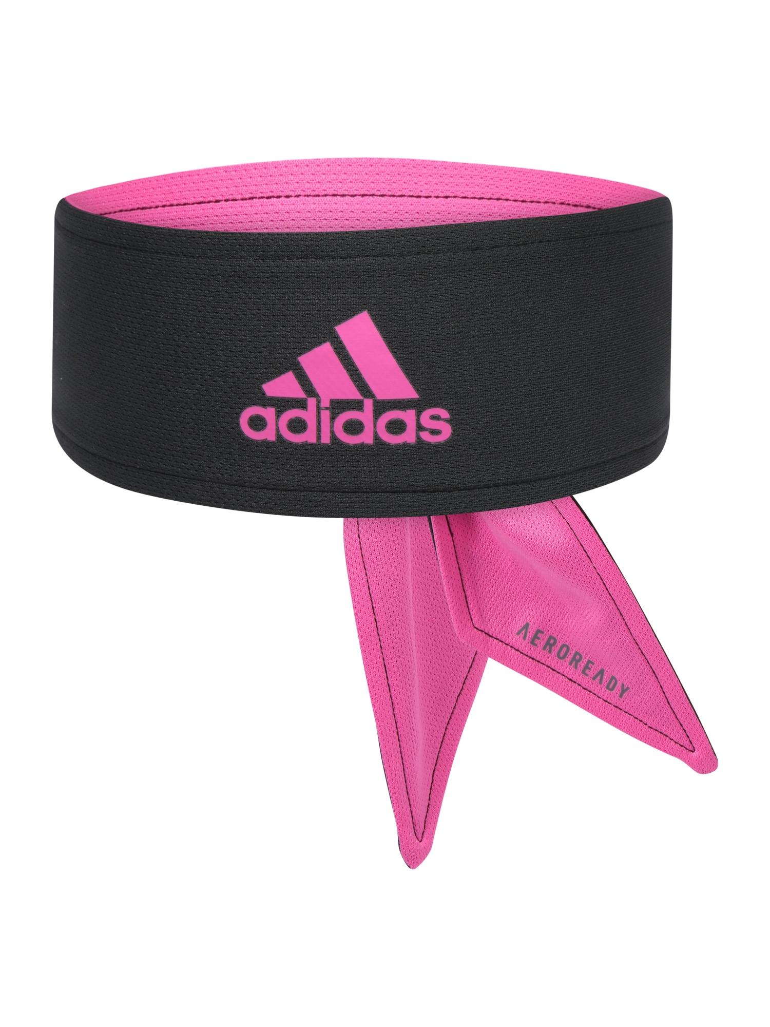 ADIDAS PERFORMANCE Sportinė galvos juosta rožinė / juoda