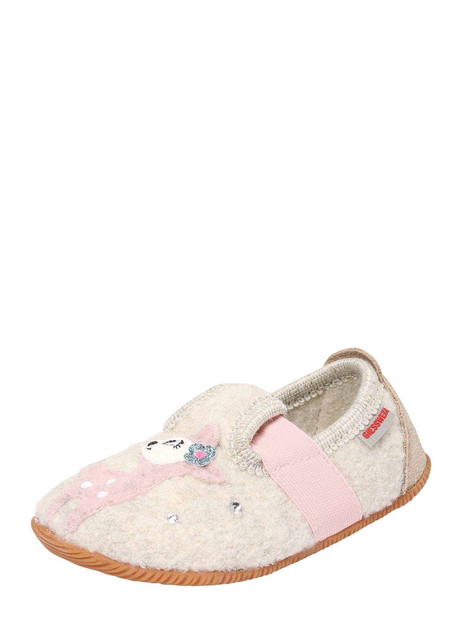 GIESSWEIN Pantofle 'Sande'  pink / béžová / růžová