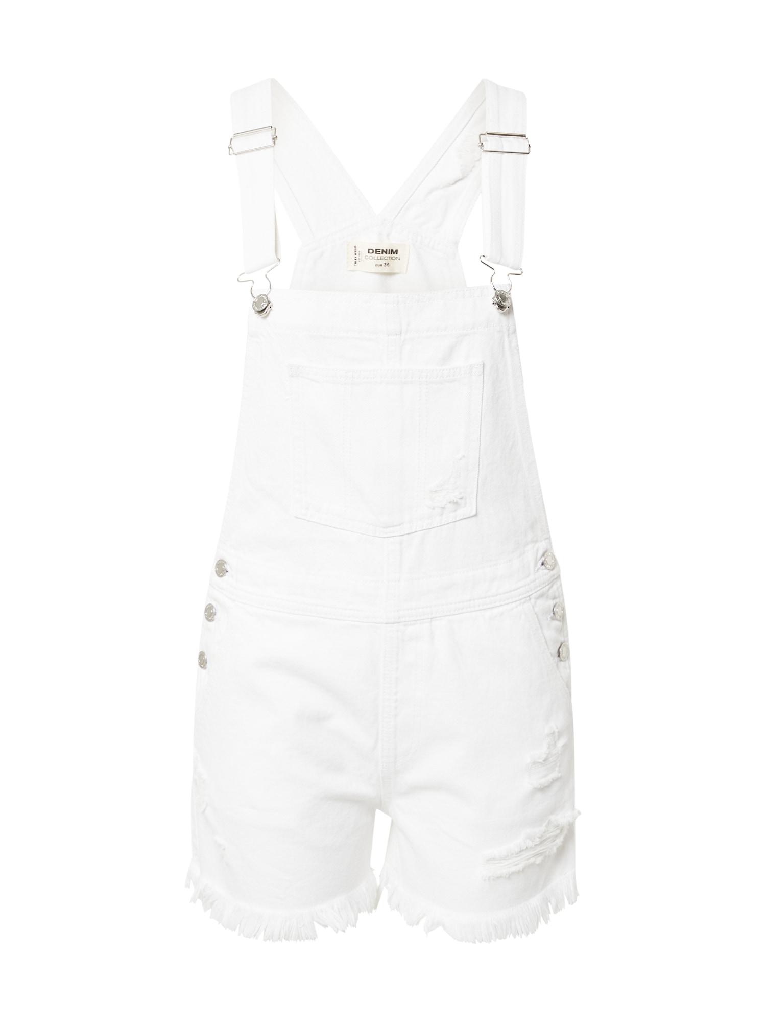 Tally Weijl Džinsinis kombinezonas balto džinso spalva