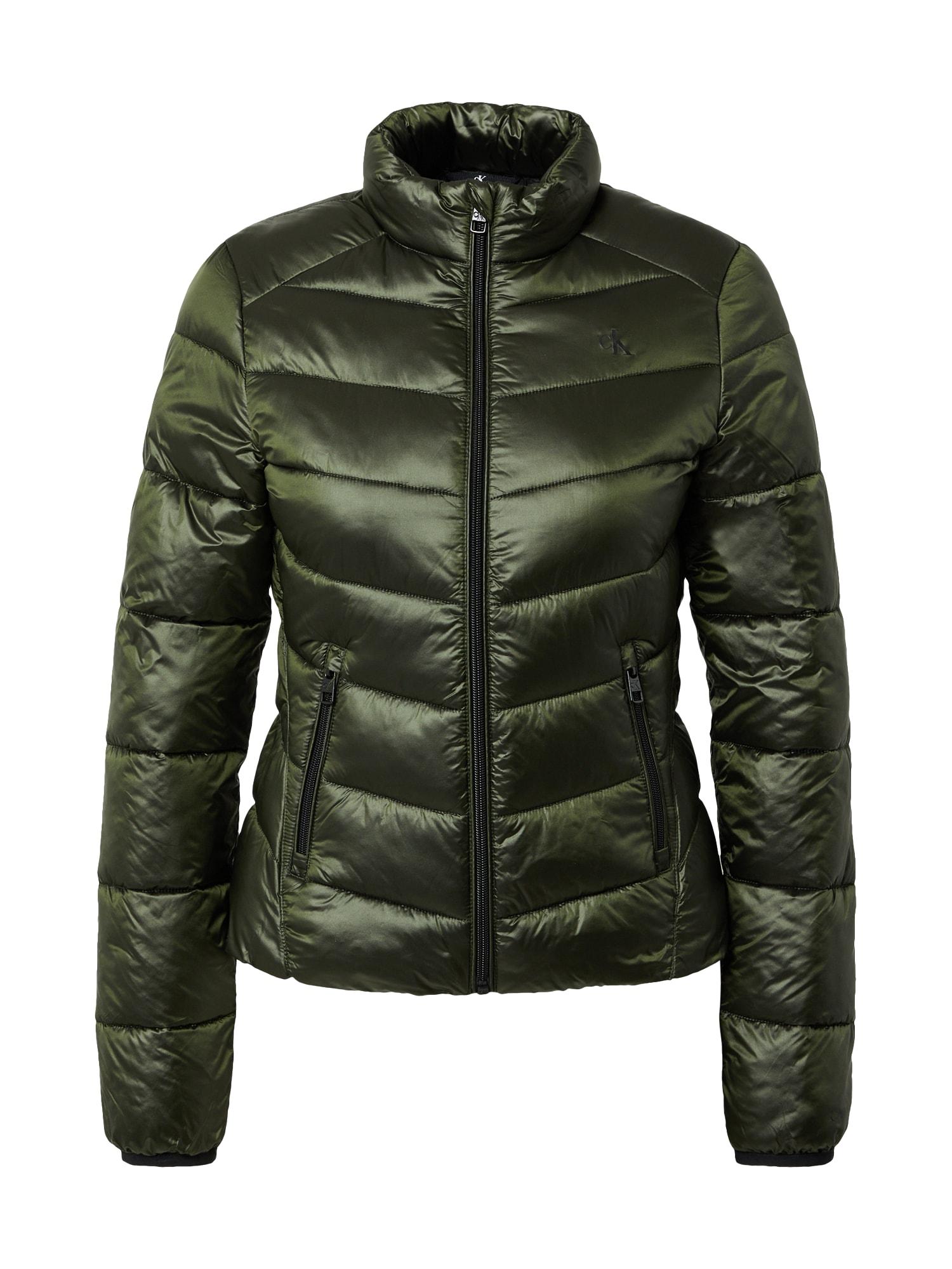 Calvin Klein Jeans Demisezoninė striukė rusvai žalia