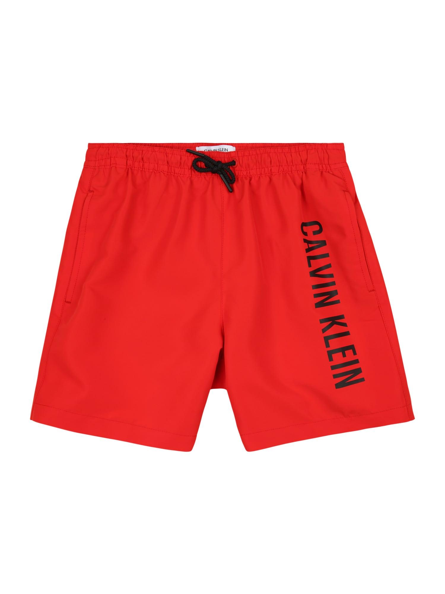 Calvin Klein Swimwear Maudymosi trumpikės raudona / juoda