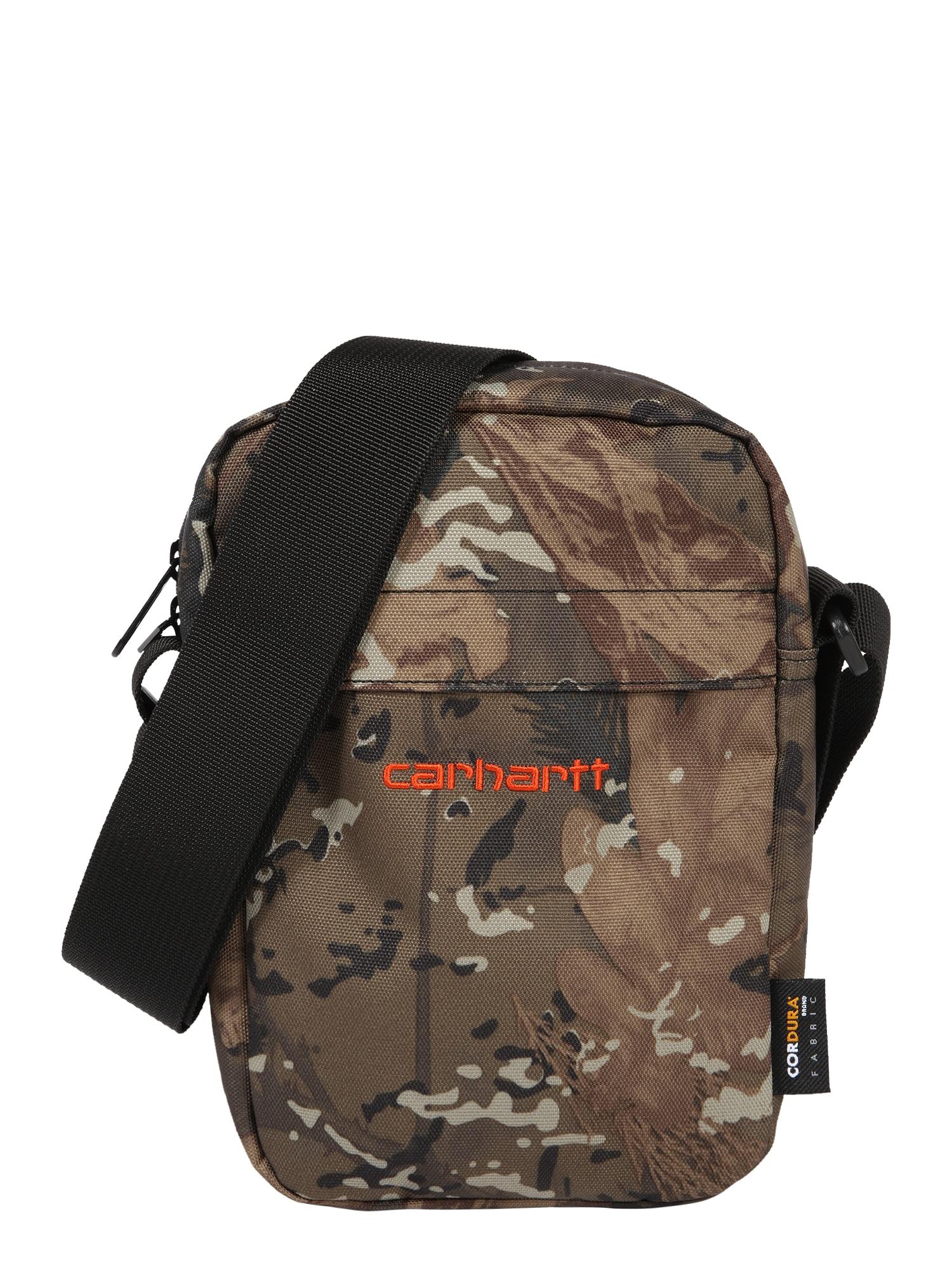Carhartt WIP Taška přes rameno 'Payton'  oranžová / hnědá / olivová / šedá