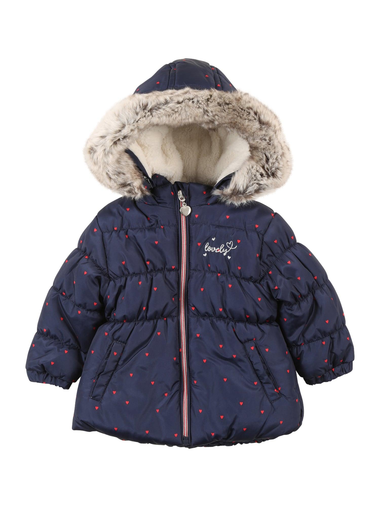 STACCATO Žieminė striukė tamsiai mėlyna / glaisto spalva / kremo / melionų spalva