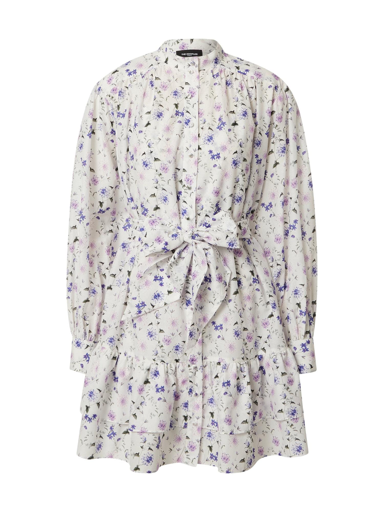The Kooples Palaidinės tipo suknelė kremo / alyvinė spalva / kobalto mėlyna
